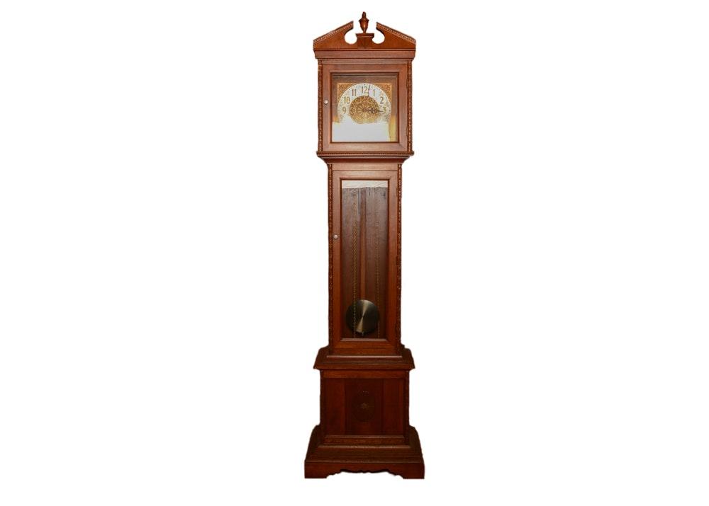 Federal Style Walnut Grandfather Clock