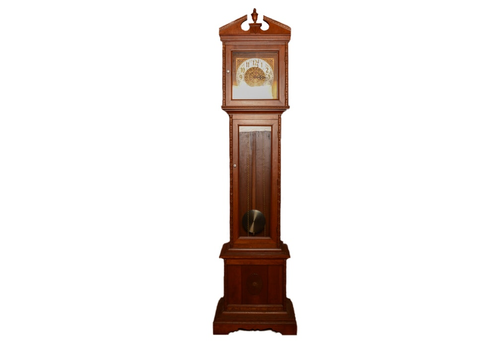 Federal Style Walnut Grandfather Clock
