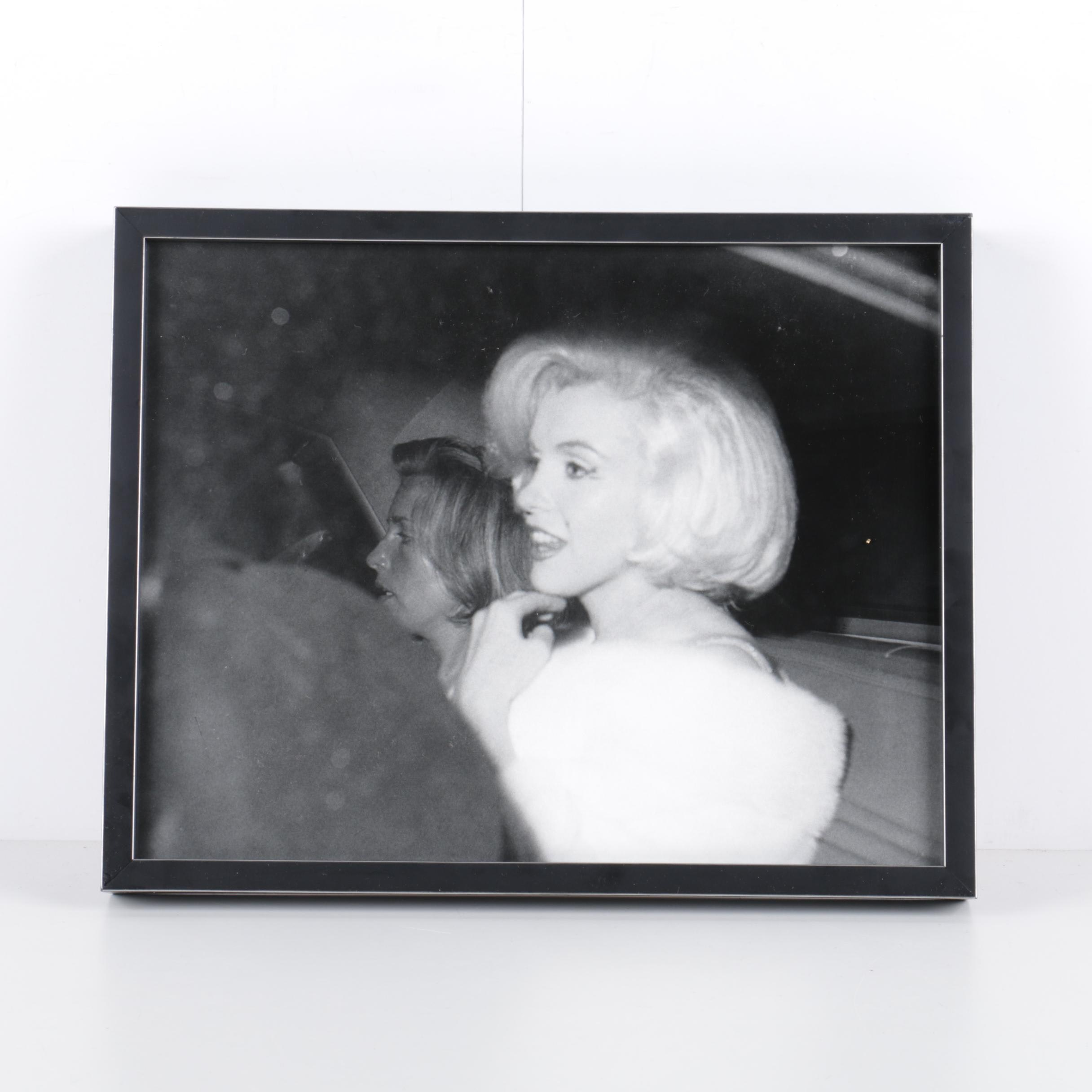 Black and White Photograph After Irv Steinberg of Marilyn Monroe