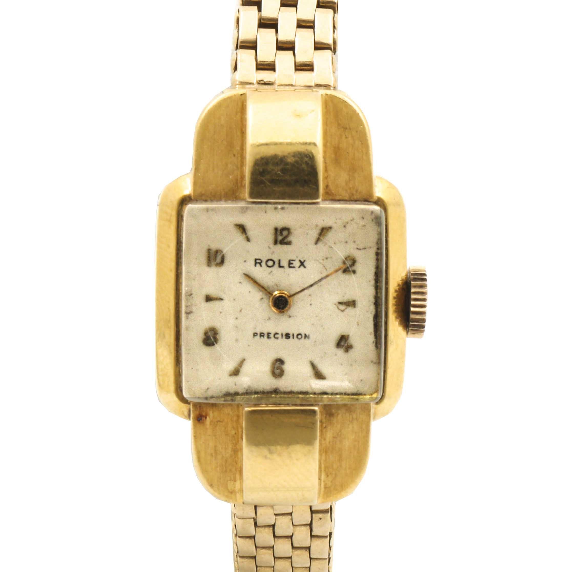 Rolex 18K and 14K Yellow Gold Wristwatch