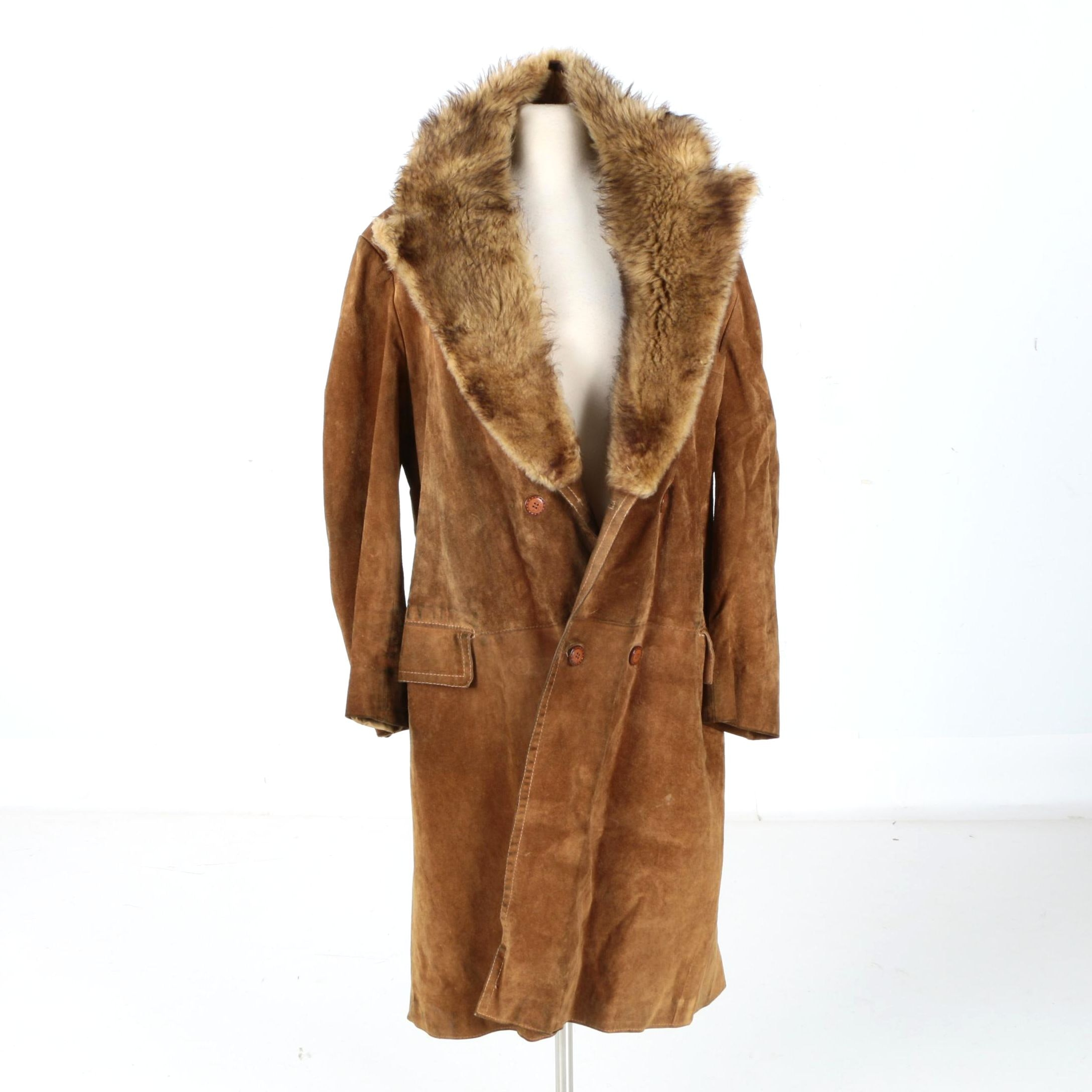 Men's Suede and Fur Coat by Ericson