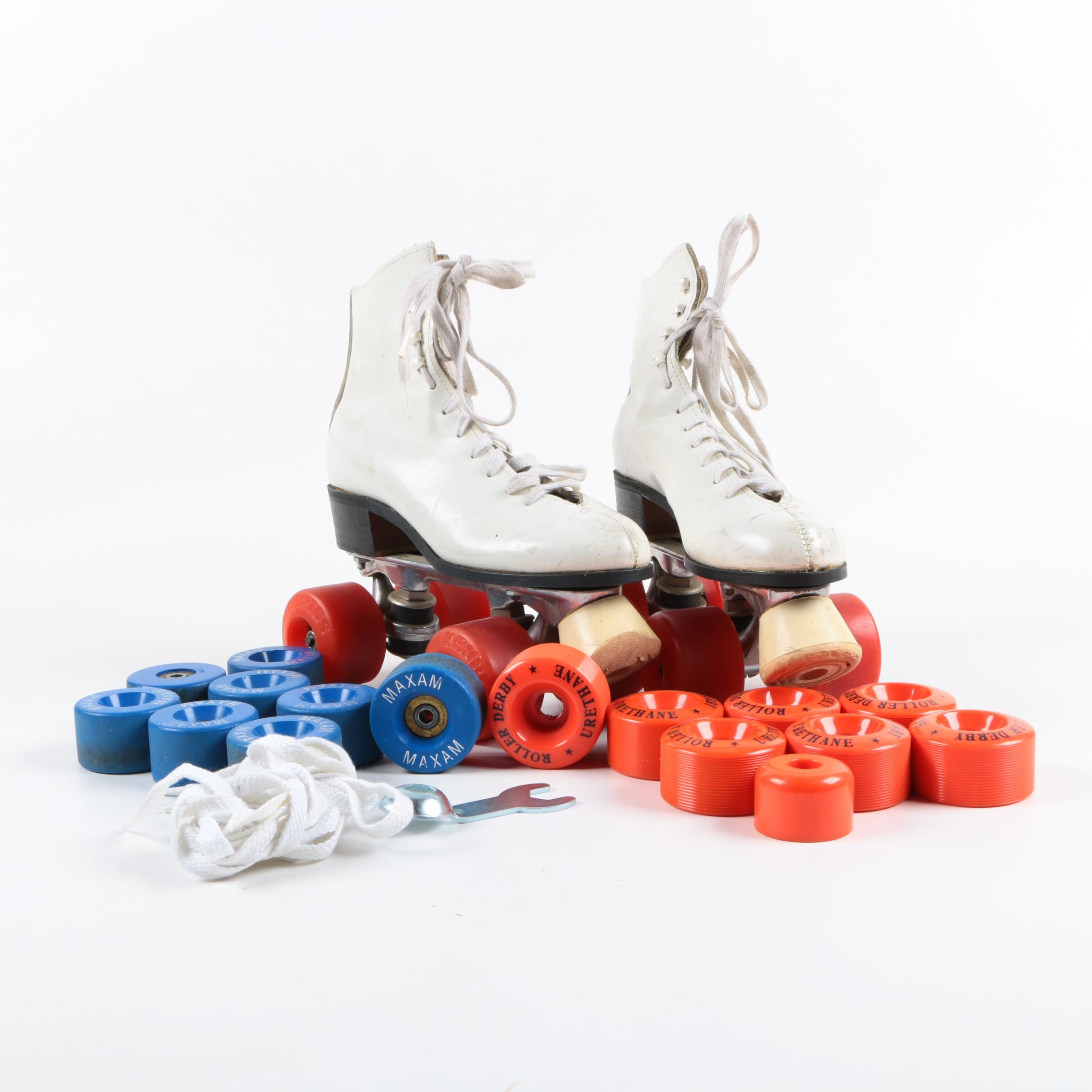 Women's Roller Skates with Extra Wheels and Laces