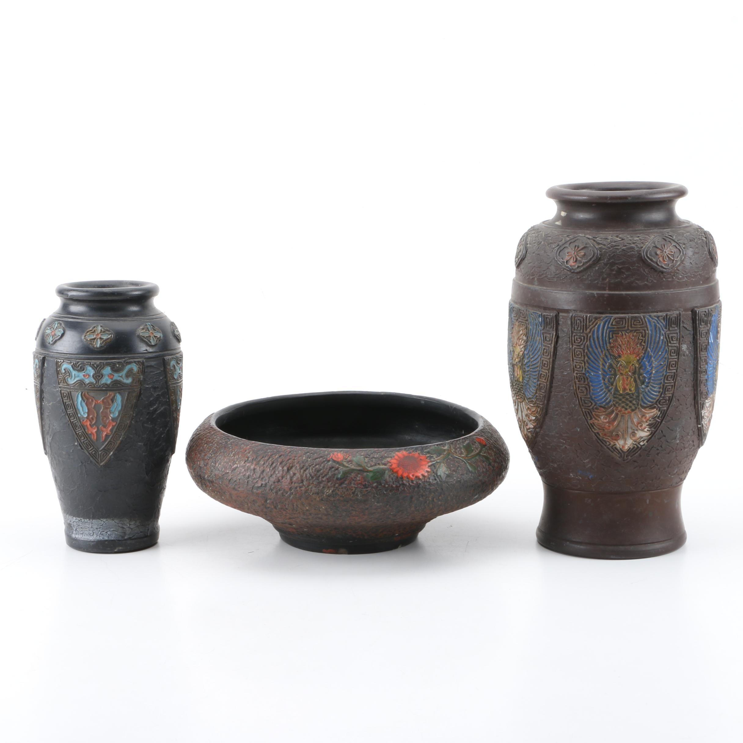Early 20th Century Japanese Tokanabe Pottery