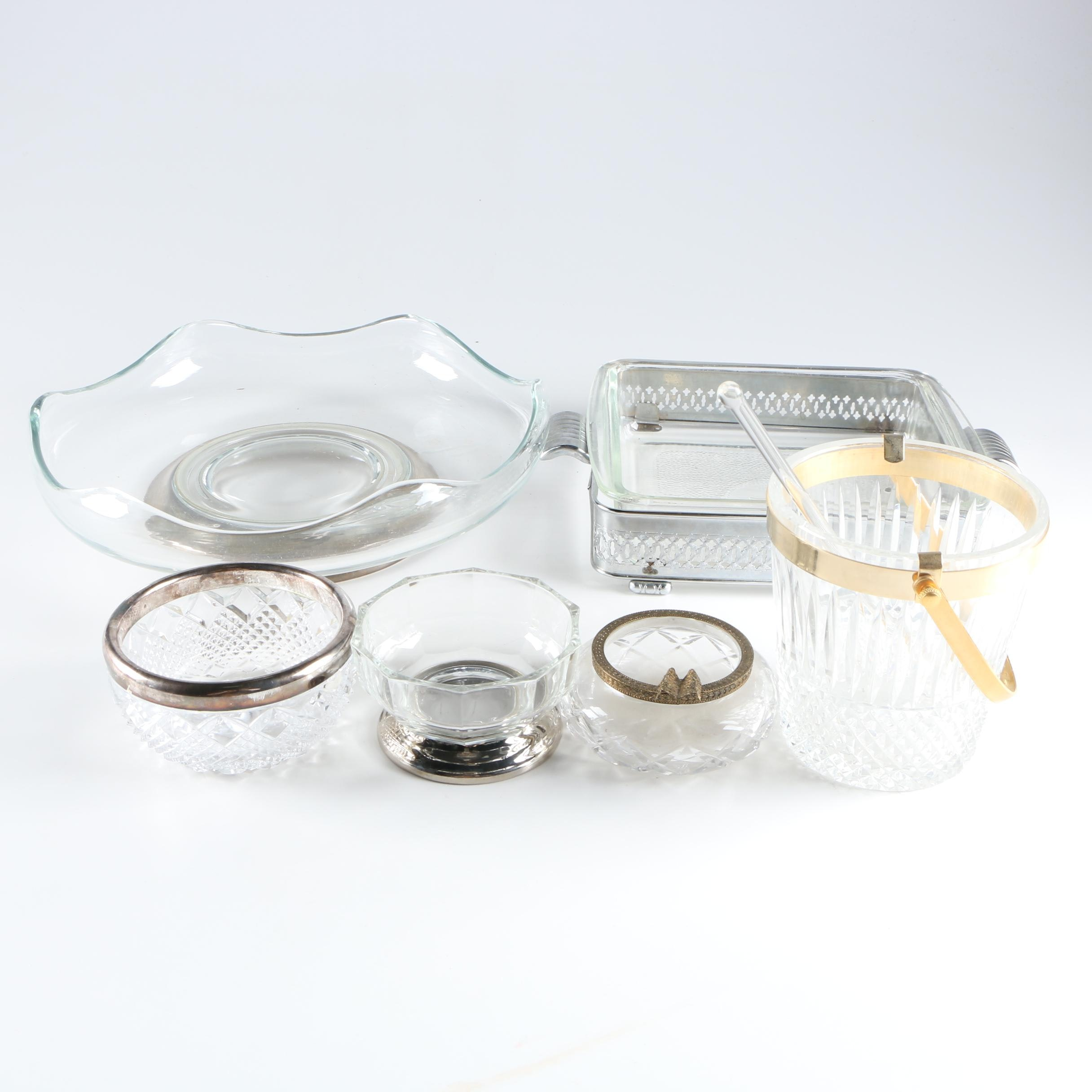 Glass and Metalware Décor with Silver Plate