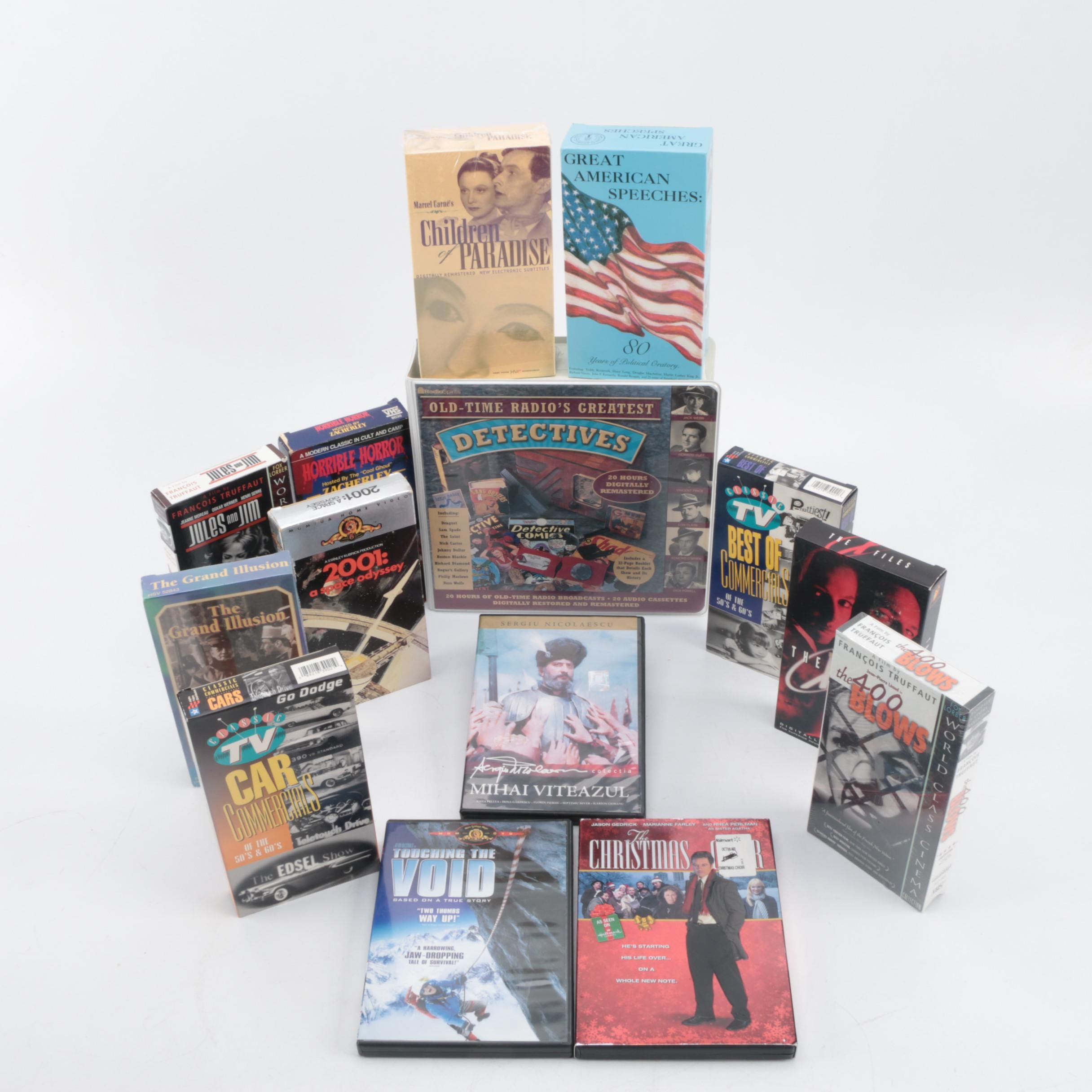 Historical, Sci-Fi and Other DVDs, VHS Tapes and Cassettes
