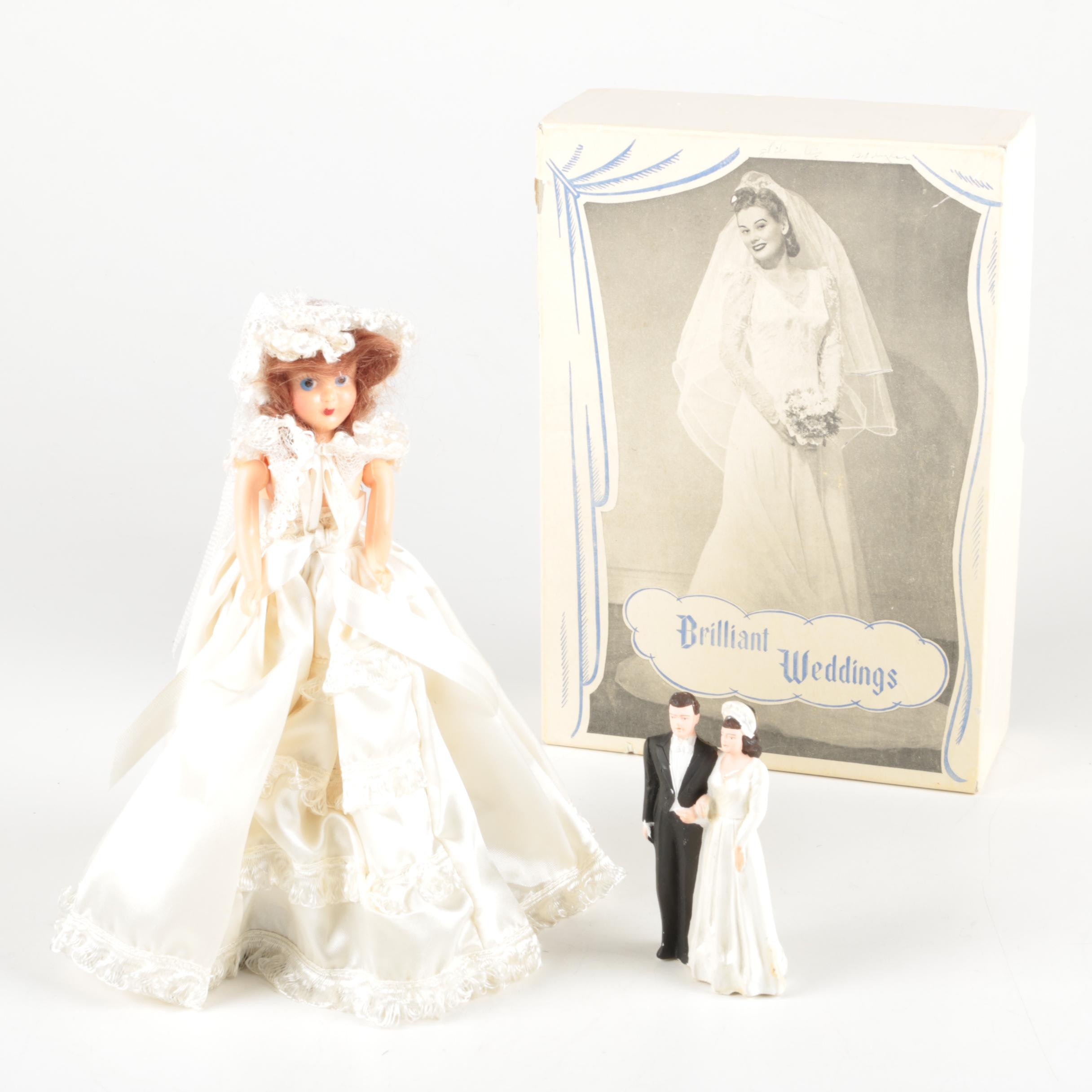 Vintage Bride Doll, Cake Topper and Other Wedding Themed Decor
