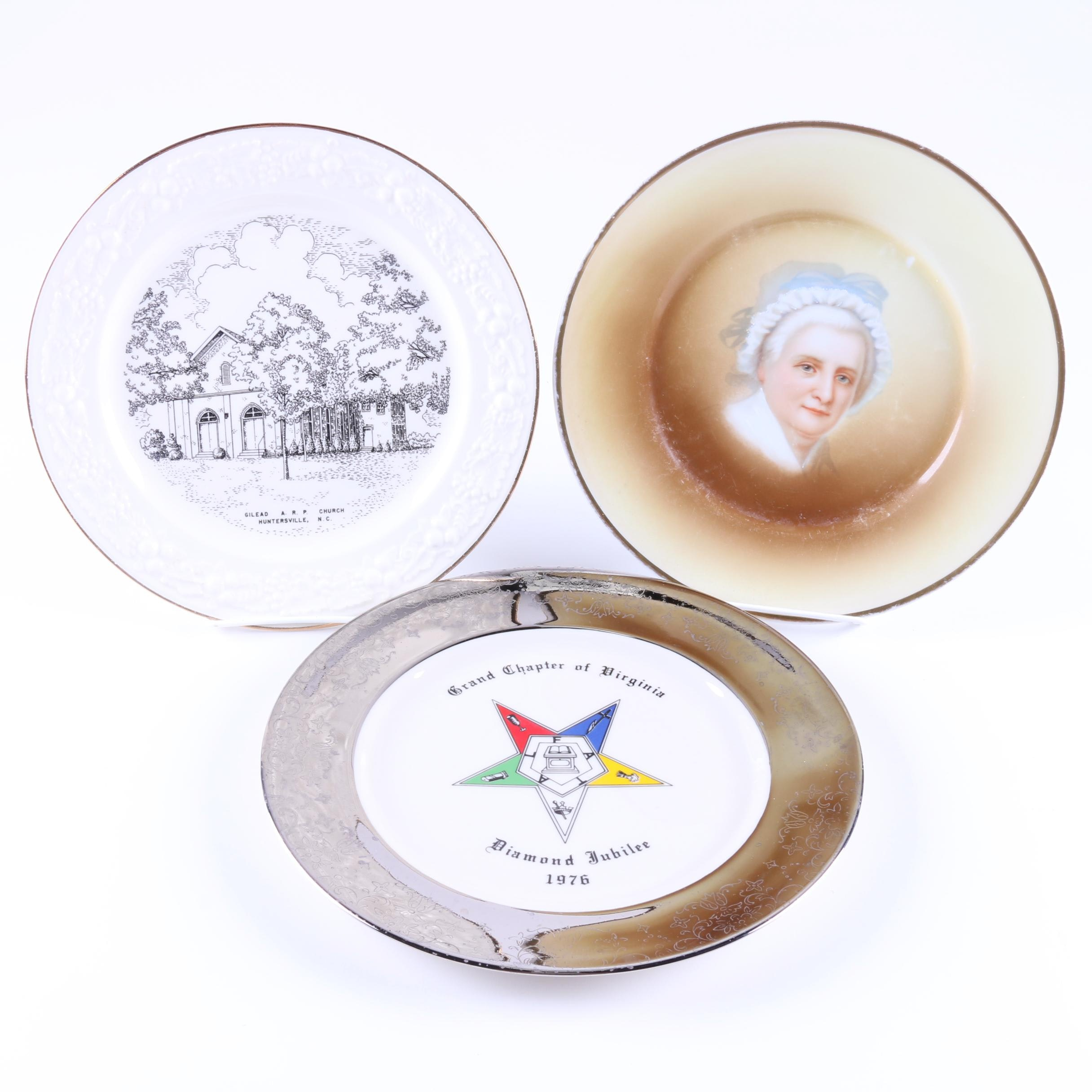 Decorative Ceramic Plates Including Vintage Jaeger & Co.