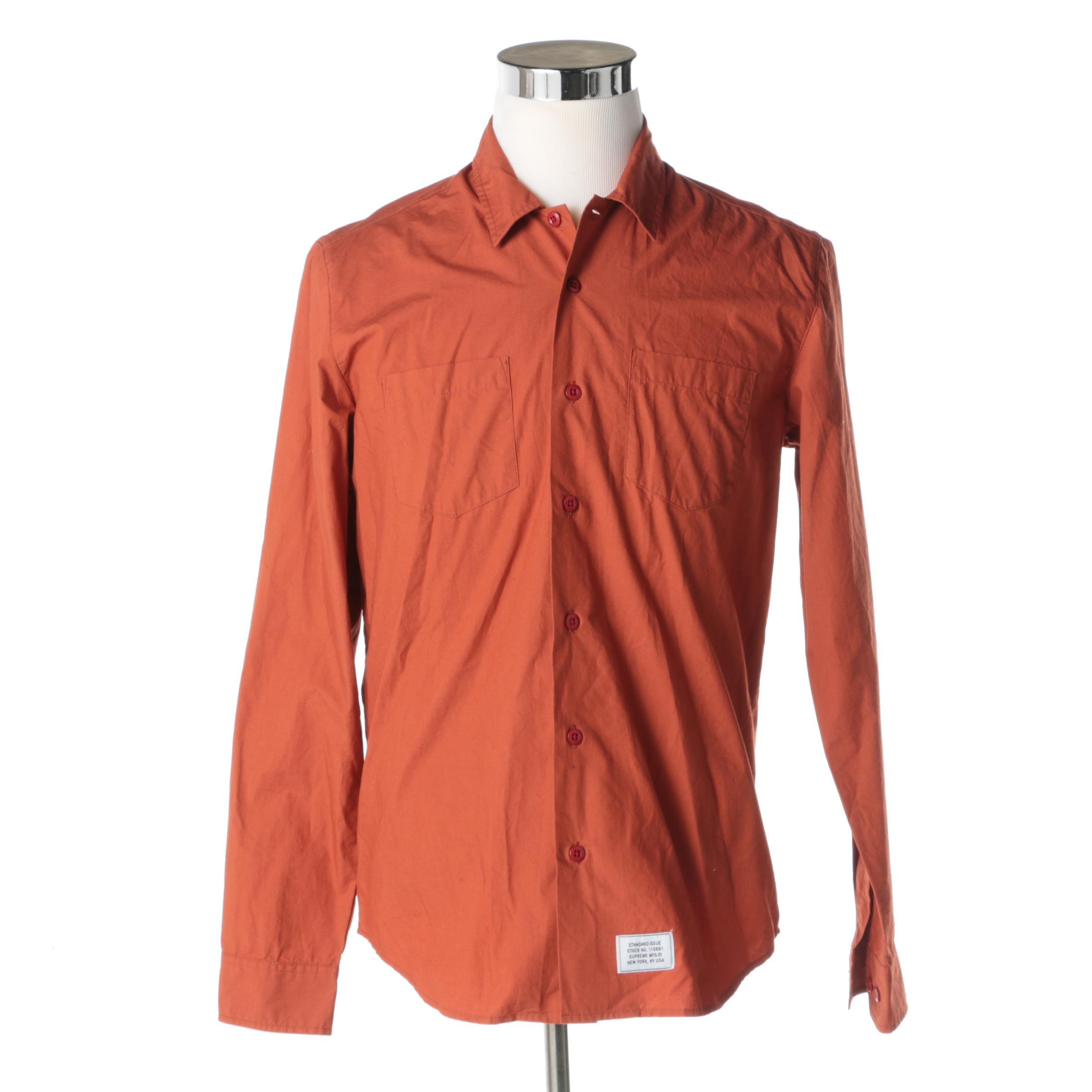 Men's Supreme Button Up Shirt
