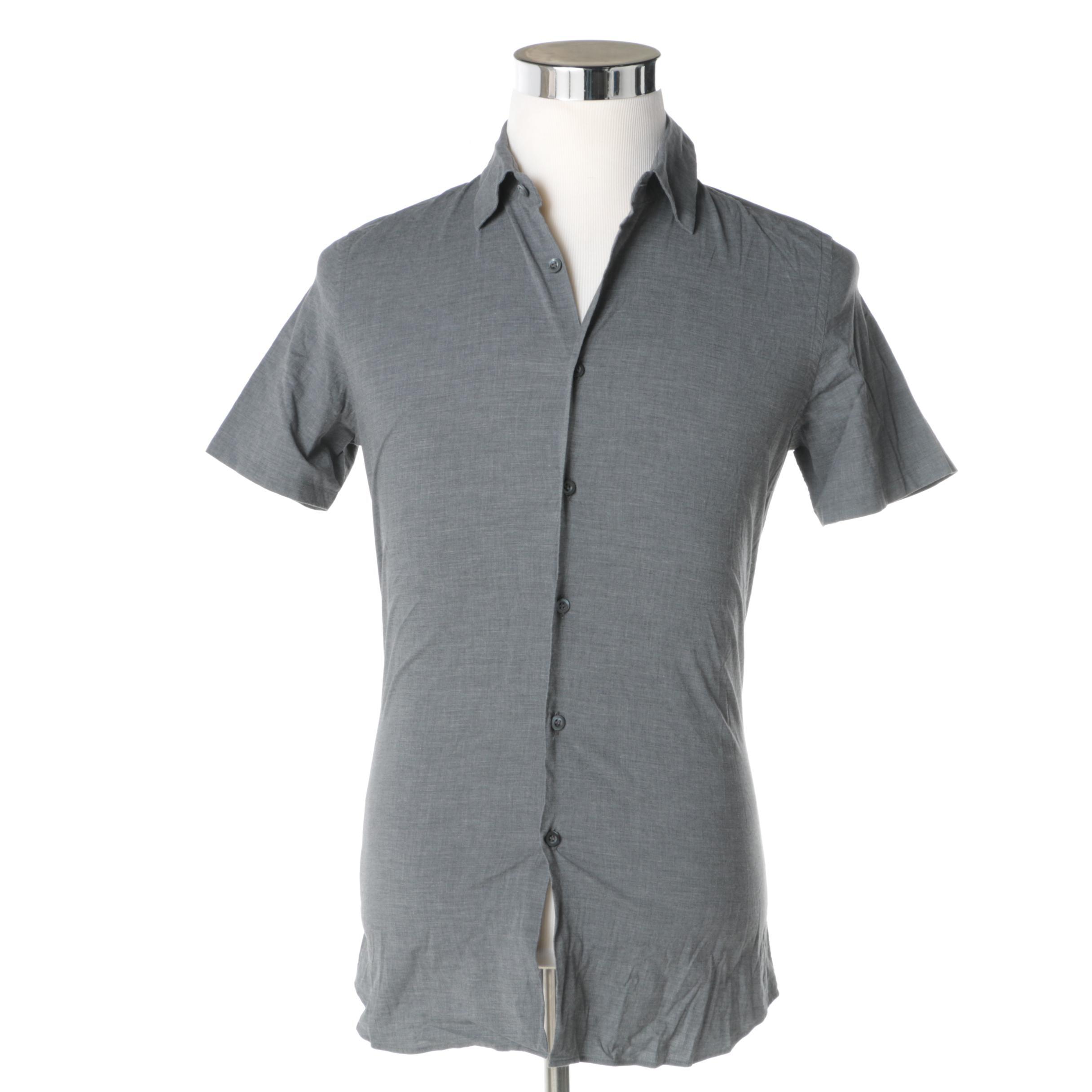 Men's Prada Short-Sleeved Button Up Shirt