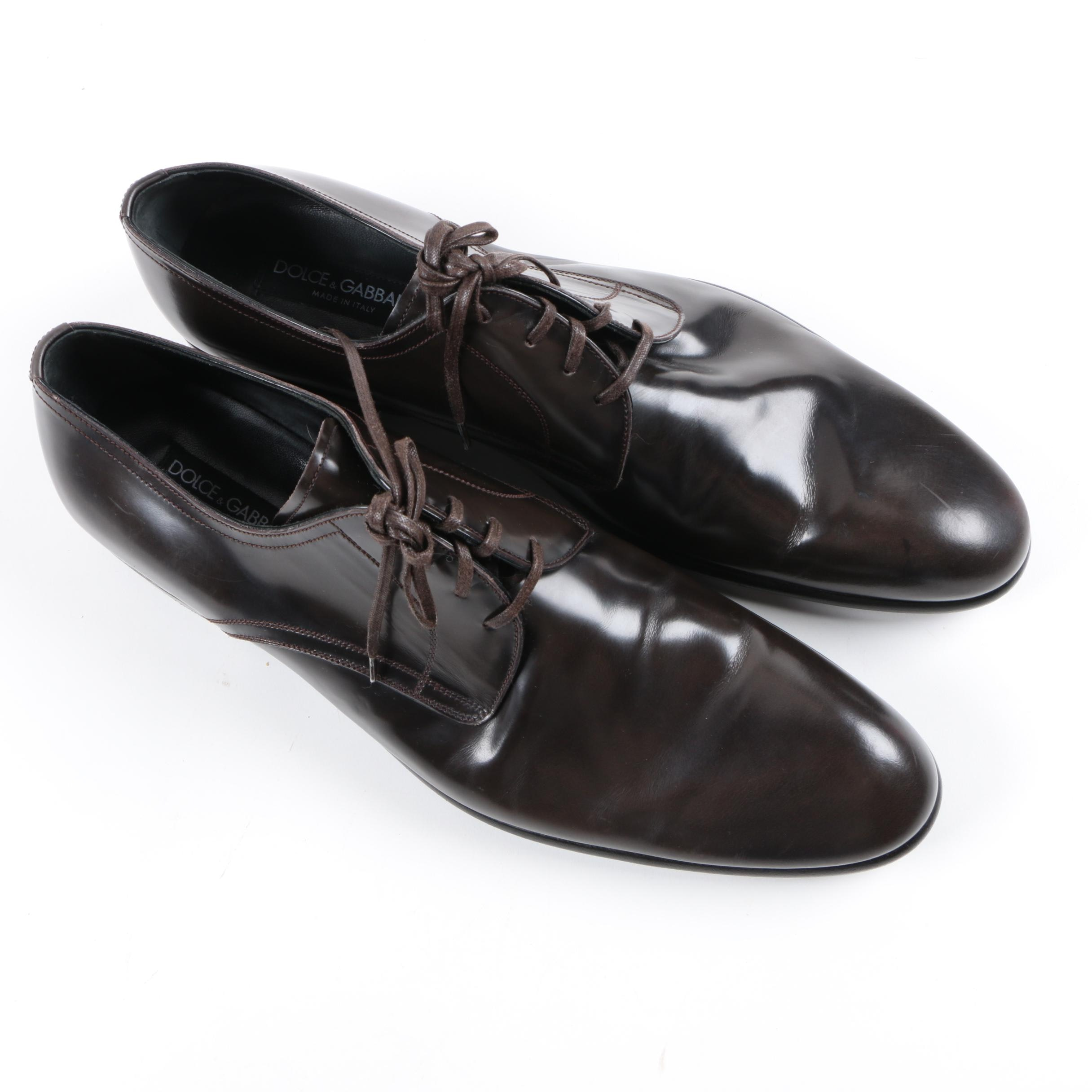 Men's Dolce & Gabbana Leather Derby Shoes