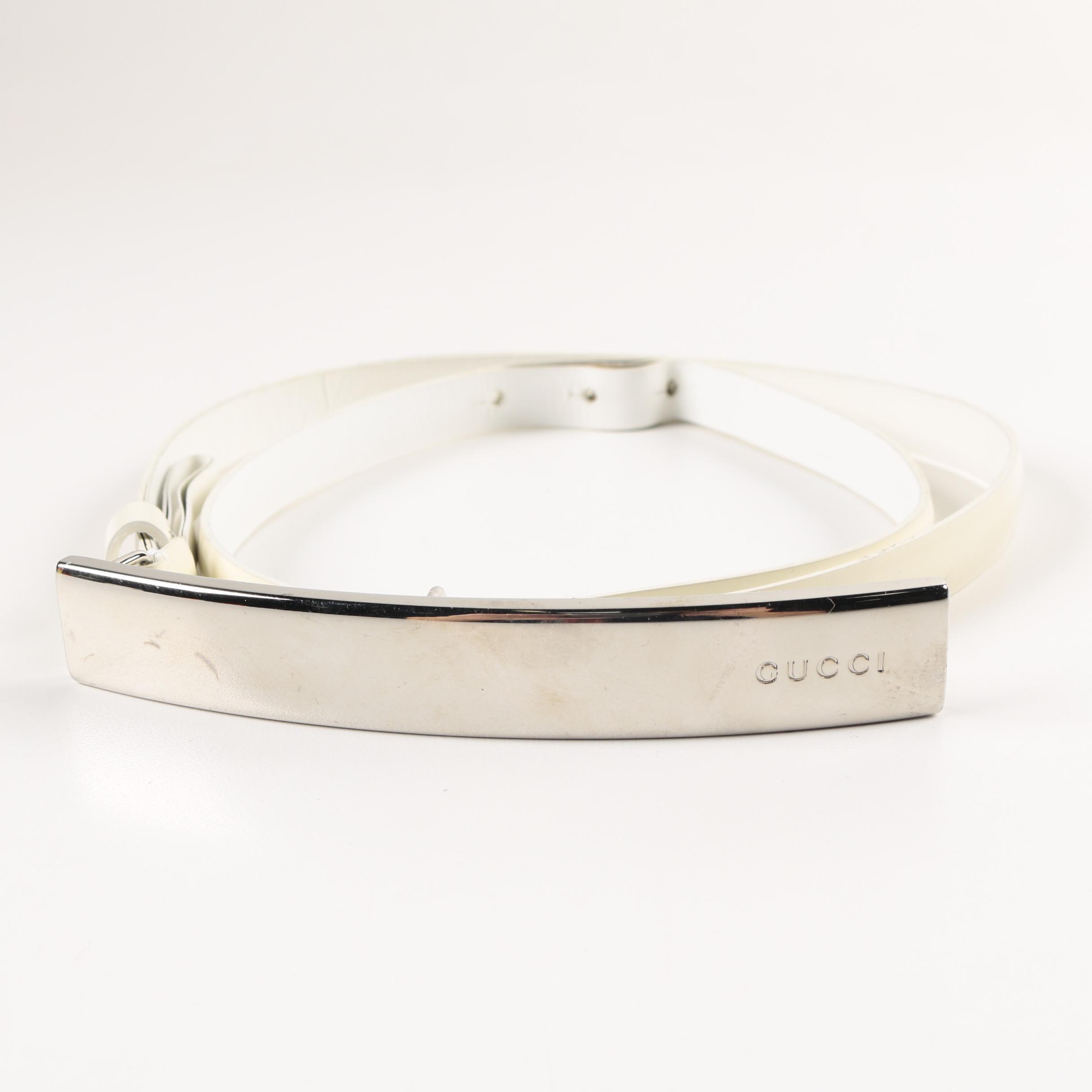 Cream Gucci Belt