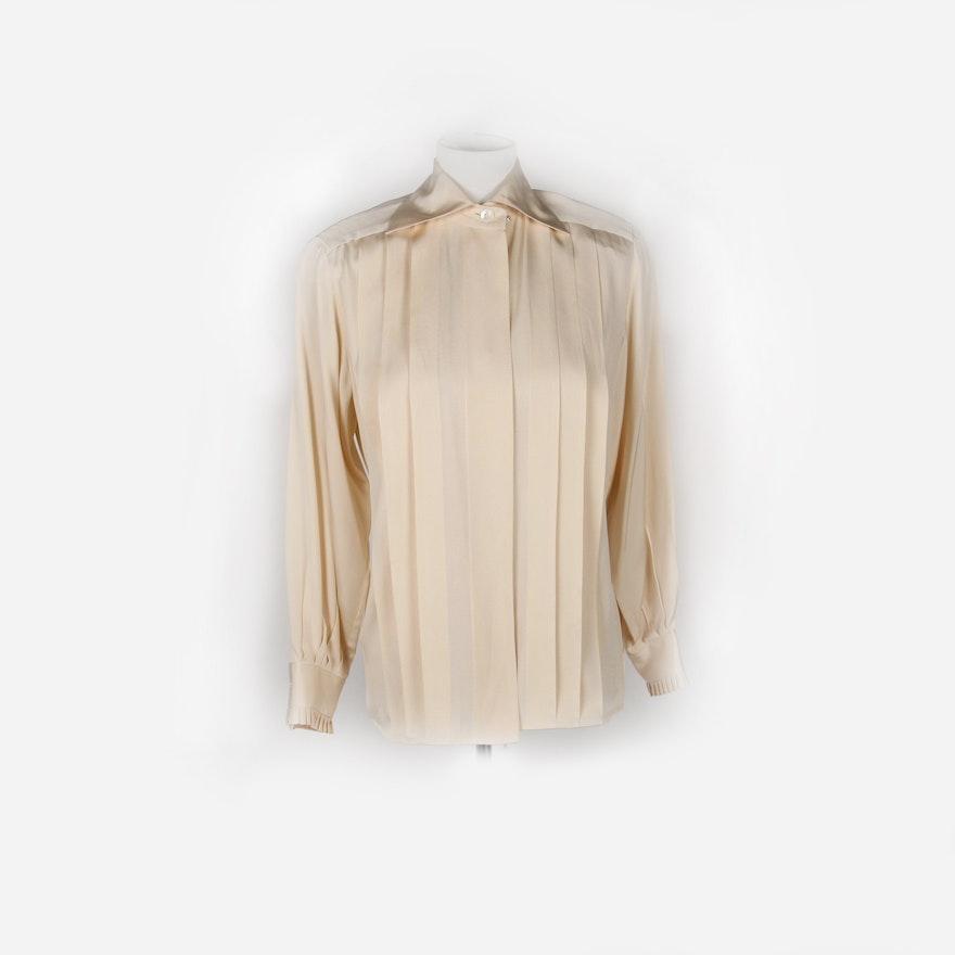 e30725ddb0c3c7 Woman s Vintage Christian Dior Silk Blouse   EBTH