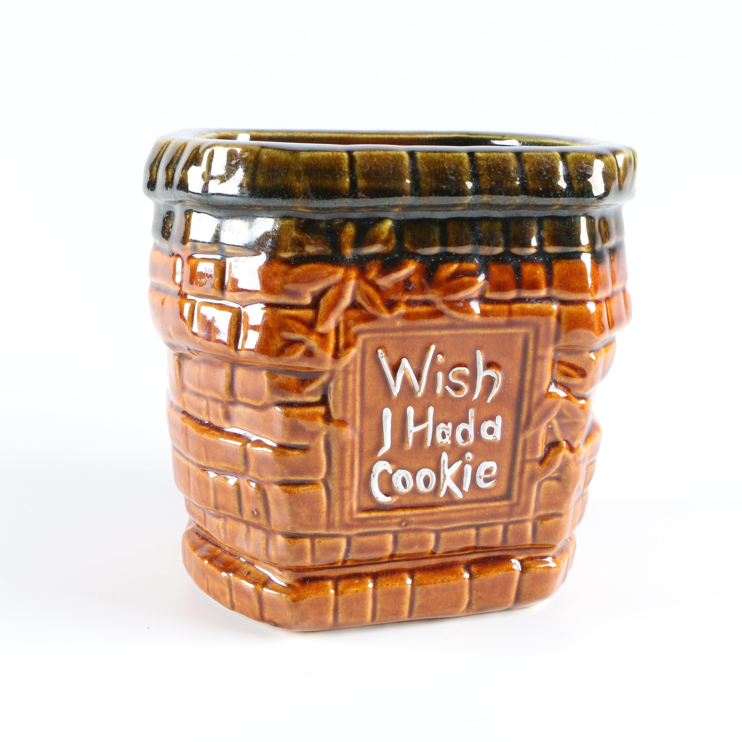 "McCoy ""Wishing Well"" Ceramic Cookie Jar"