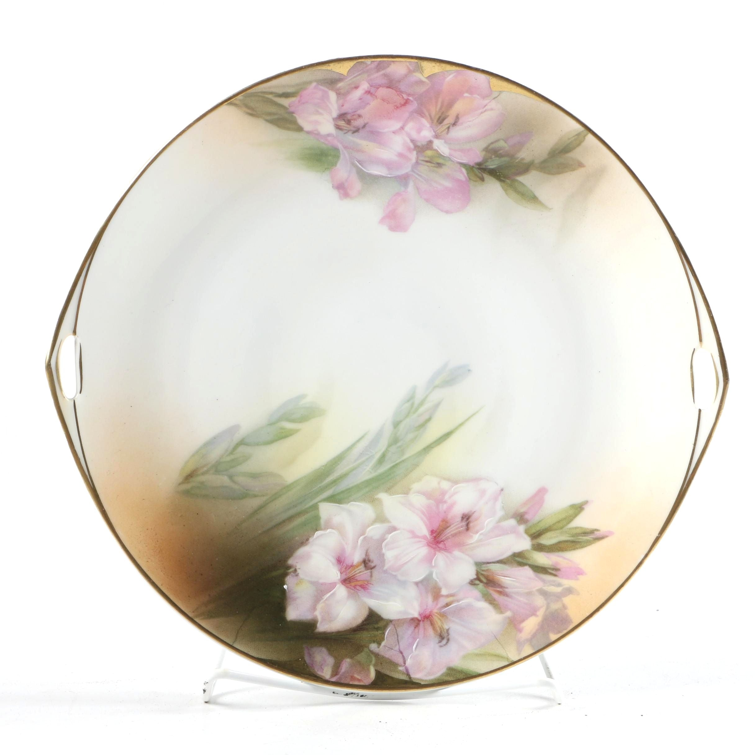 Early 20th Century Beyer & Bock Porcelain Floral Platter