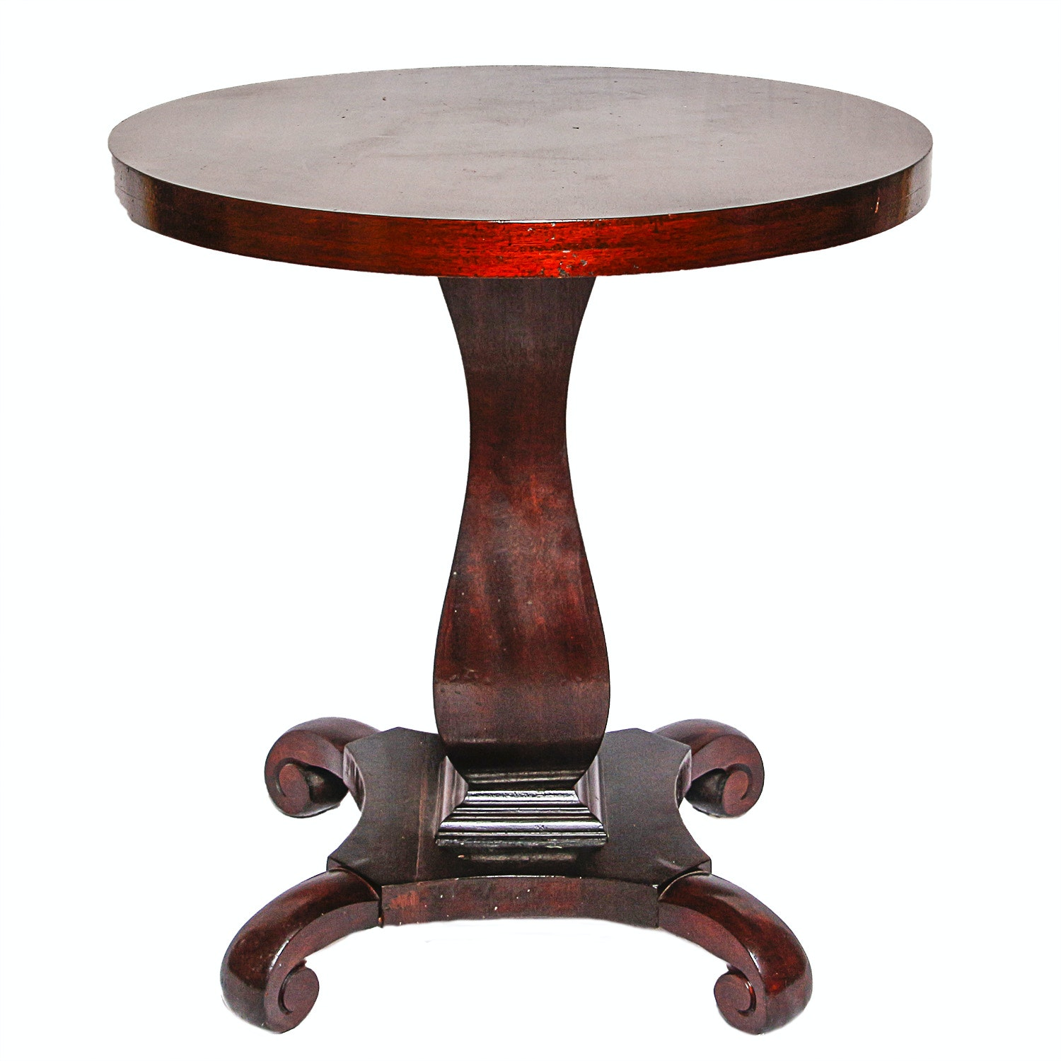Vintage Empire Style Mahogany Side Table