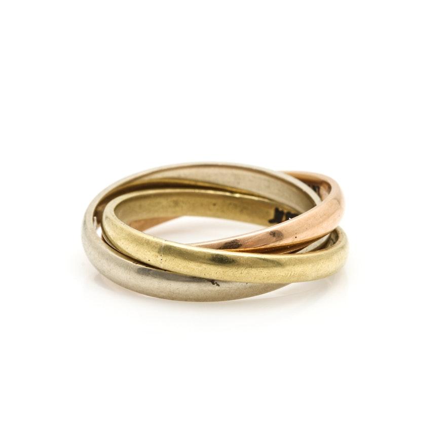 K Gold Rolling Ring