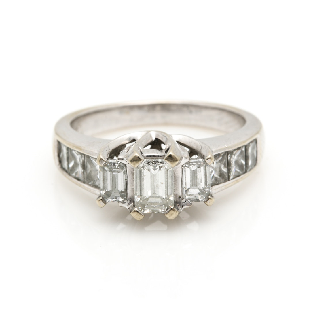 18K White Gold 1.90 CTW Diamond Ring
