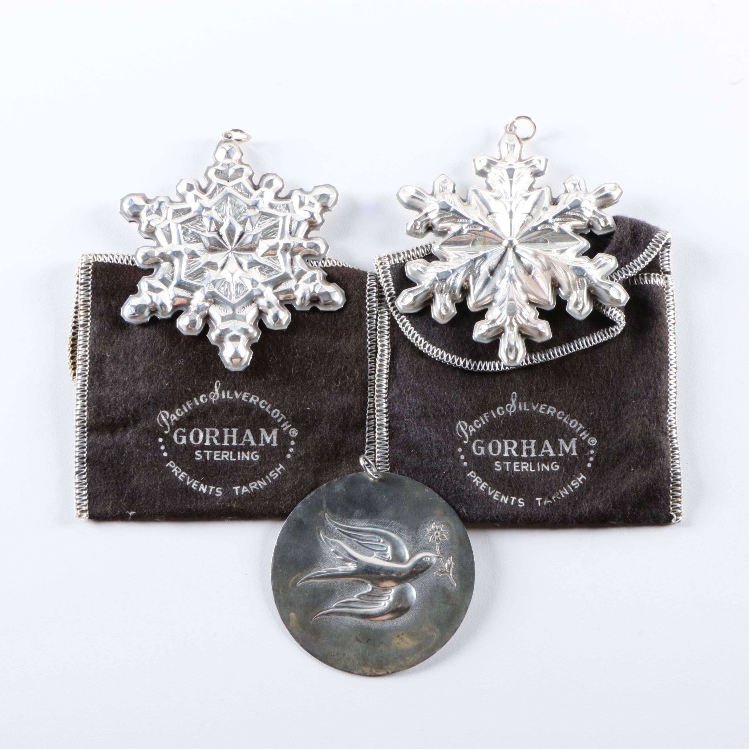 Collection of Vintage Sterling Silver Ornaments Featuring Gorham