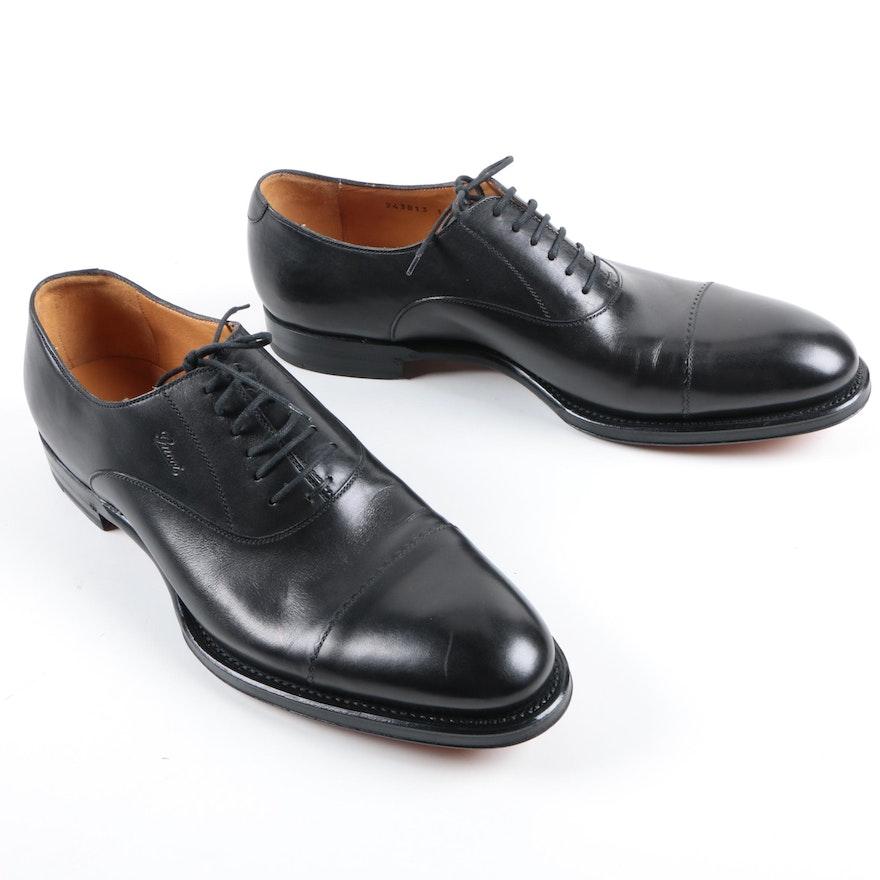 7b93f4cf9d Men's Gucci Black Leather Lace-Up Dress Shoes : EBTH