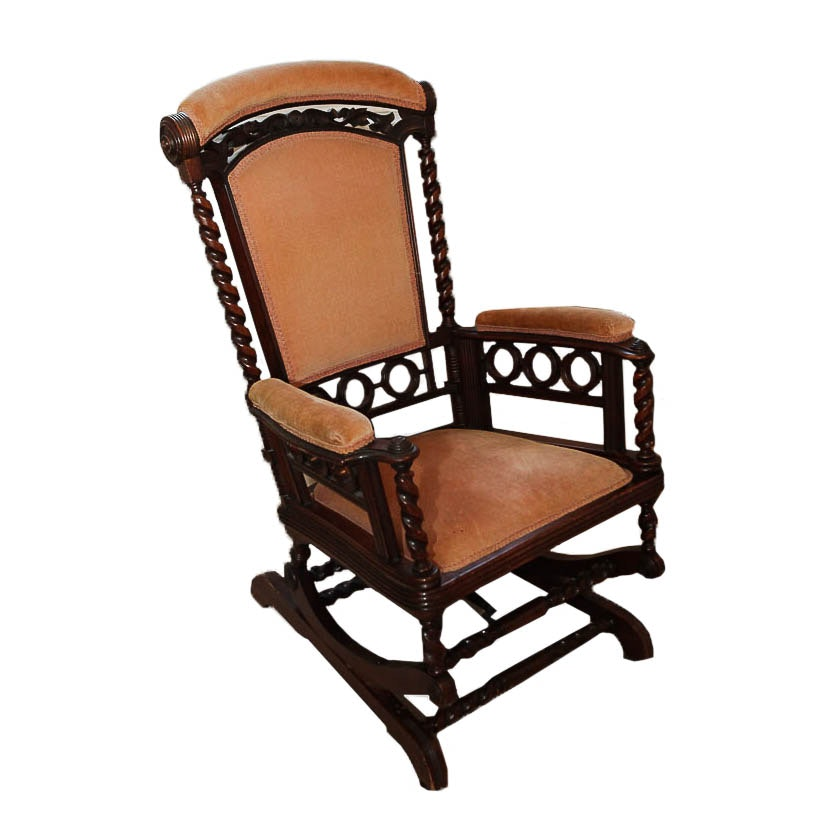 Victorian Upholstered Rocking Chair
