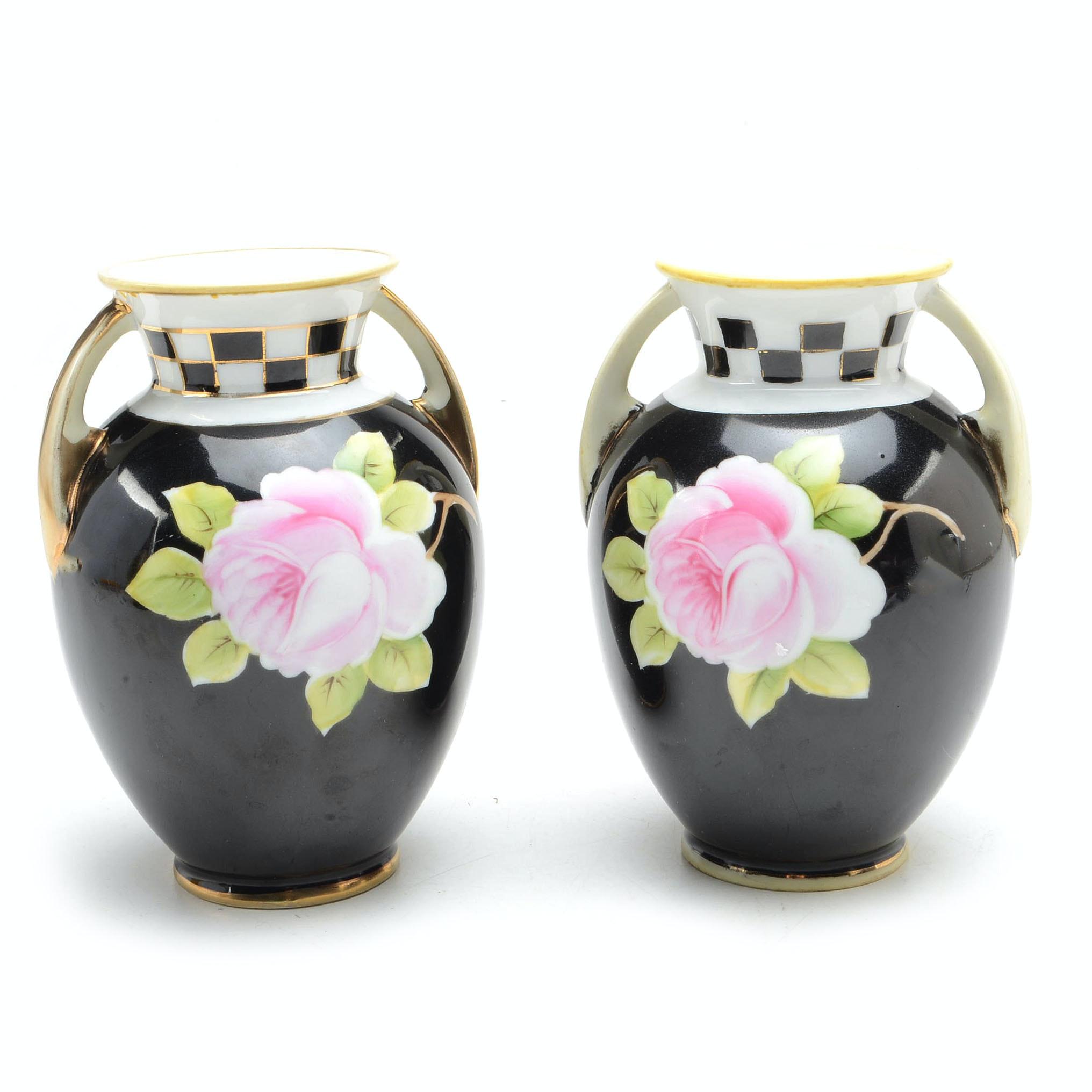 Pair of Vintage Nippon Vases