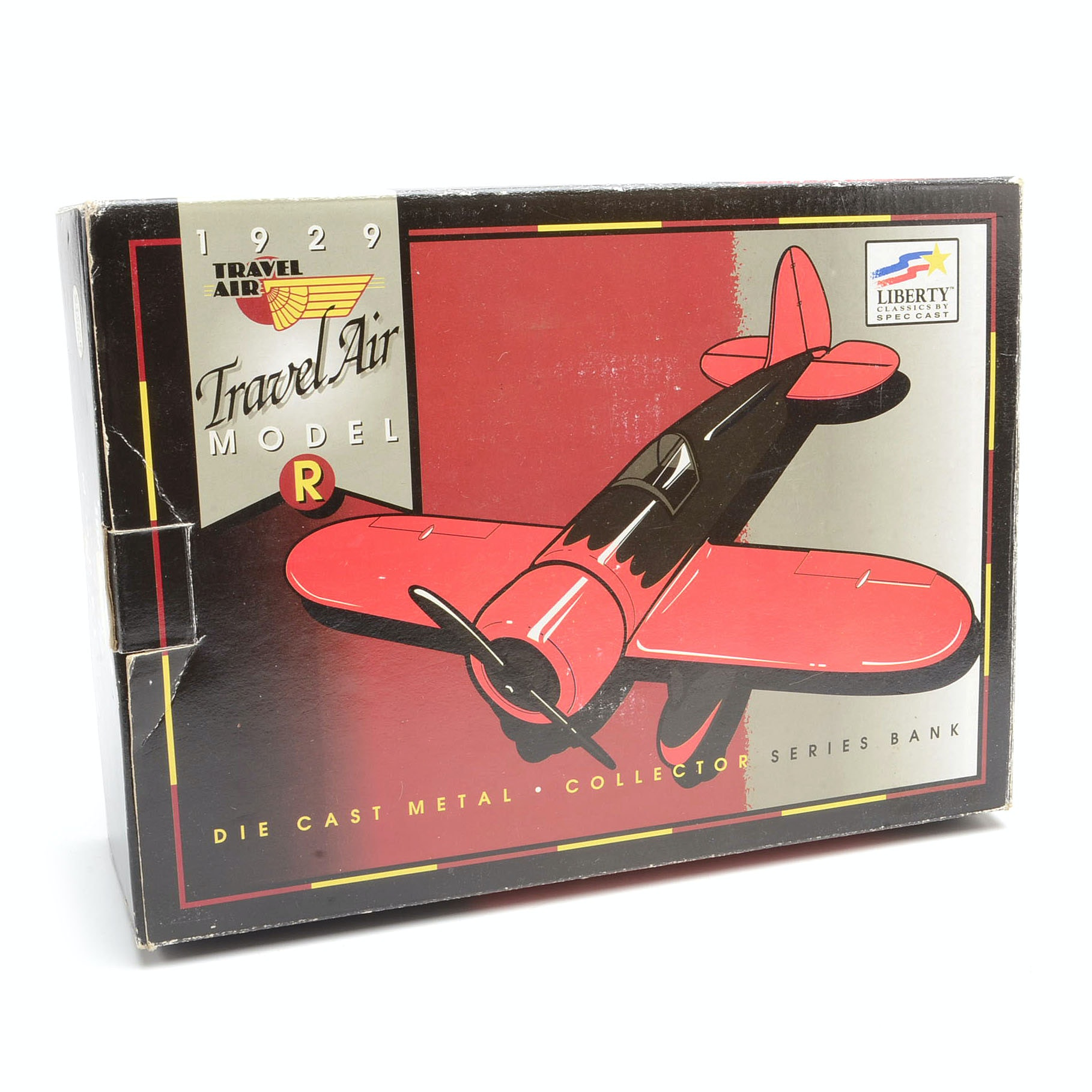 Spec Cast 1929 Travelair Model R Gilmour Oil Airplane Die Cast Coin Bank