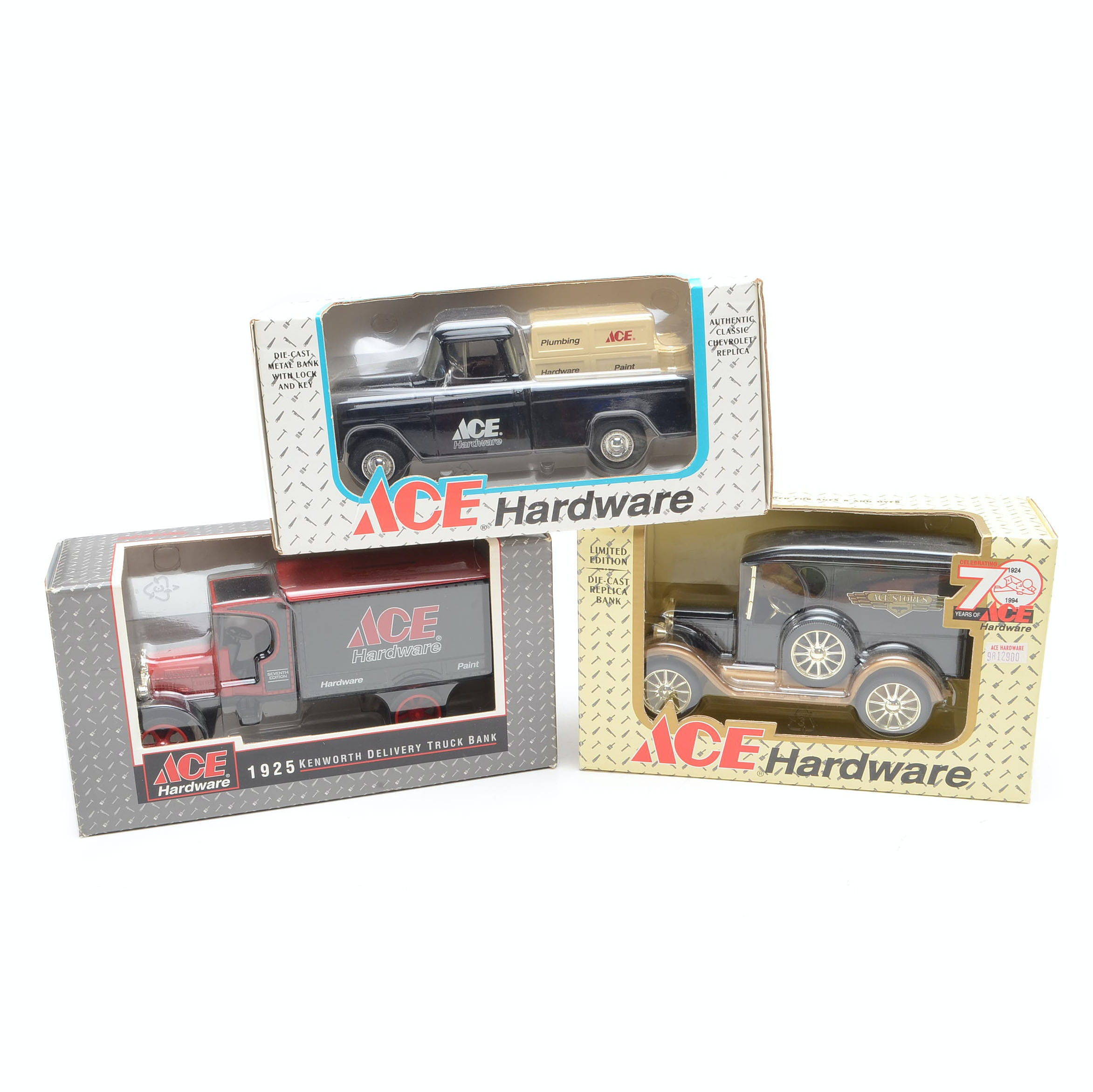 Collection of Ertl Ace Hardware Delivery Truck Coin Banks