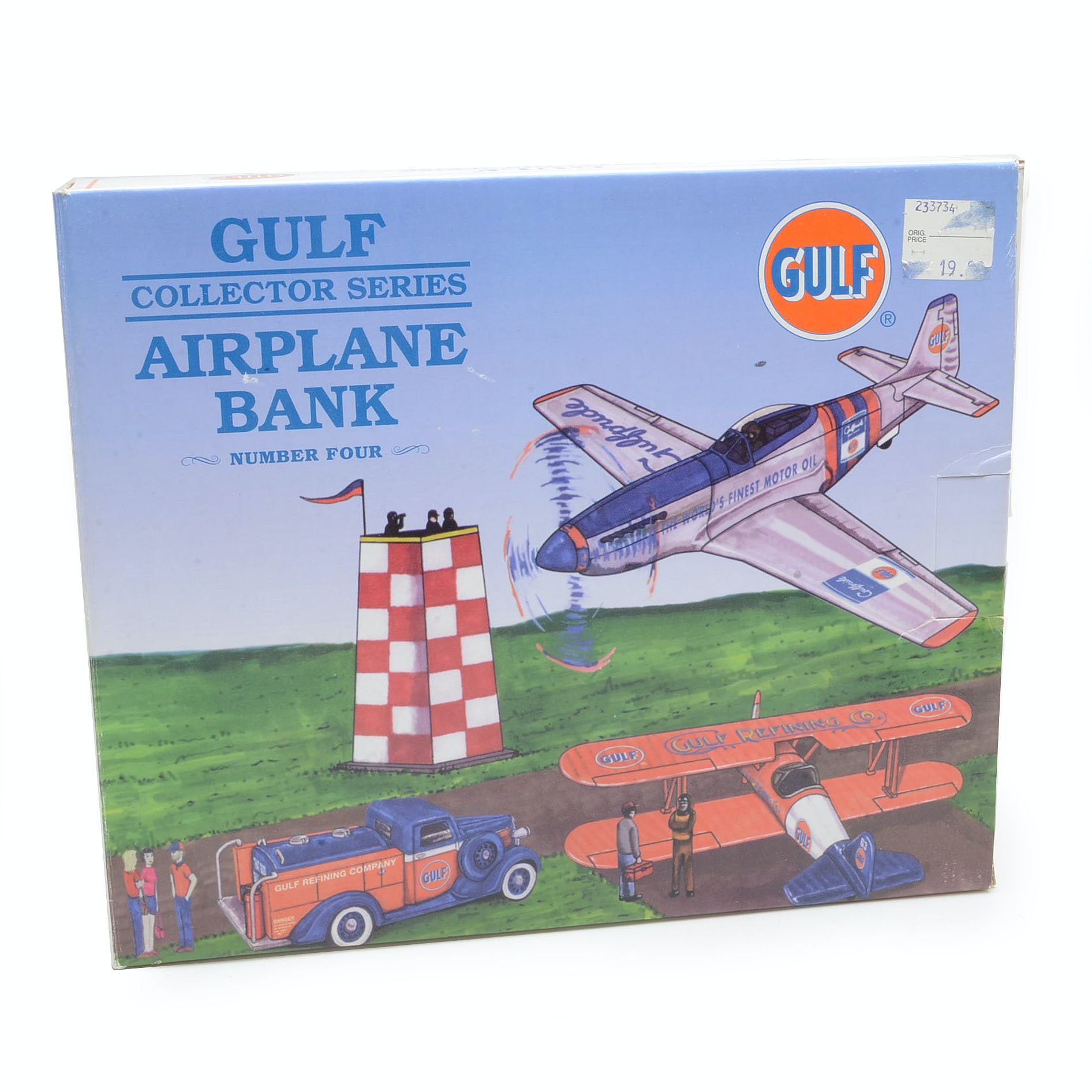 Spec Cast Gulf Oil P51 Mustang Die Cast Coin Bank