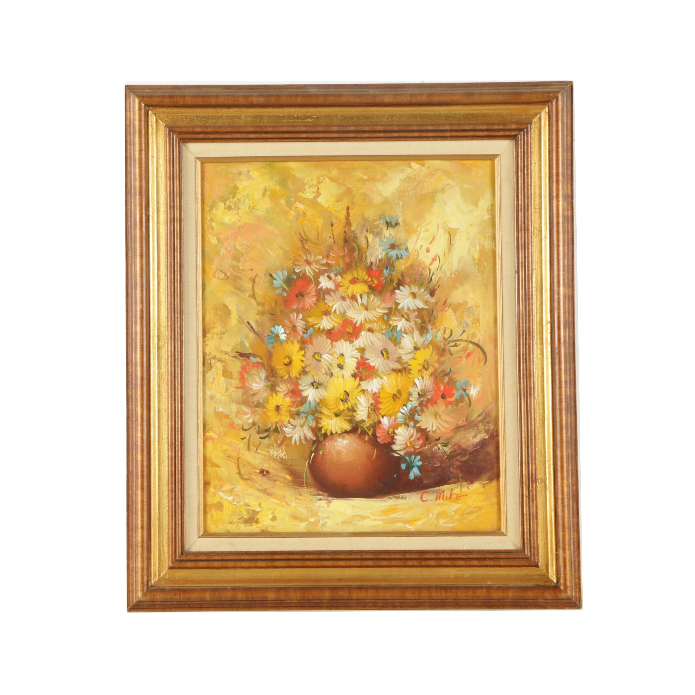C. Mike Still Life Oil Painting on Canvas Board