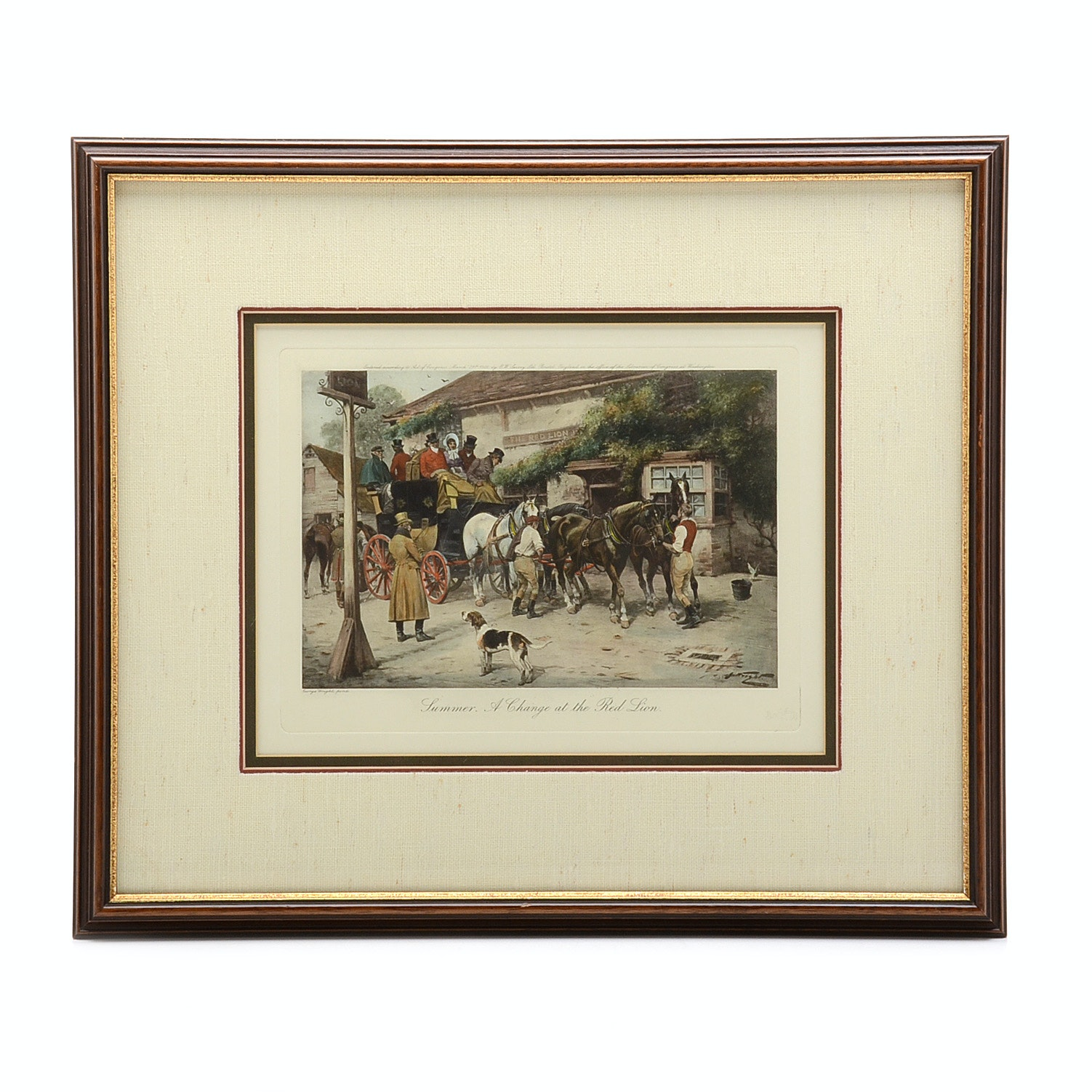 Engraving after 'Summer. A Change at the Red Lion'George Wright