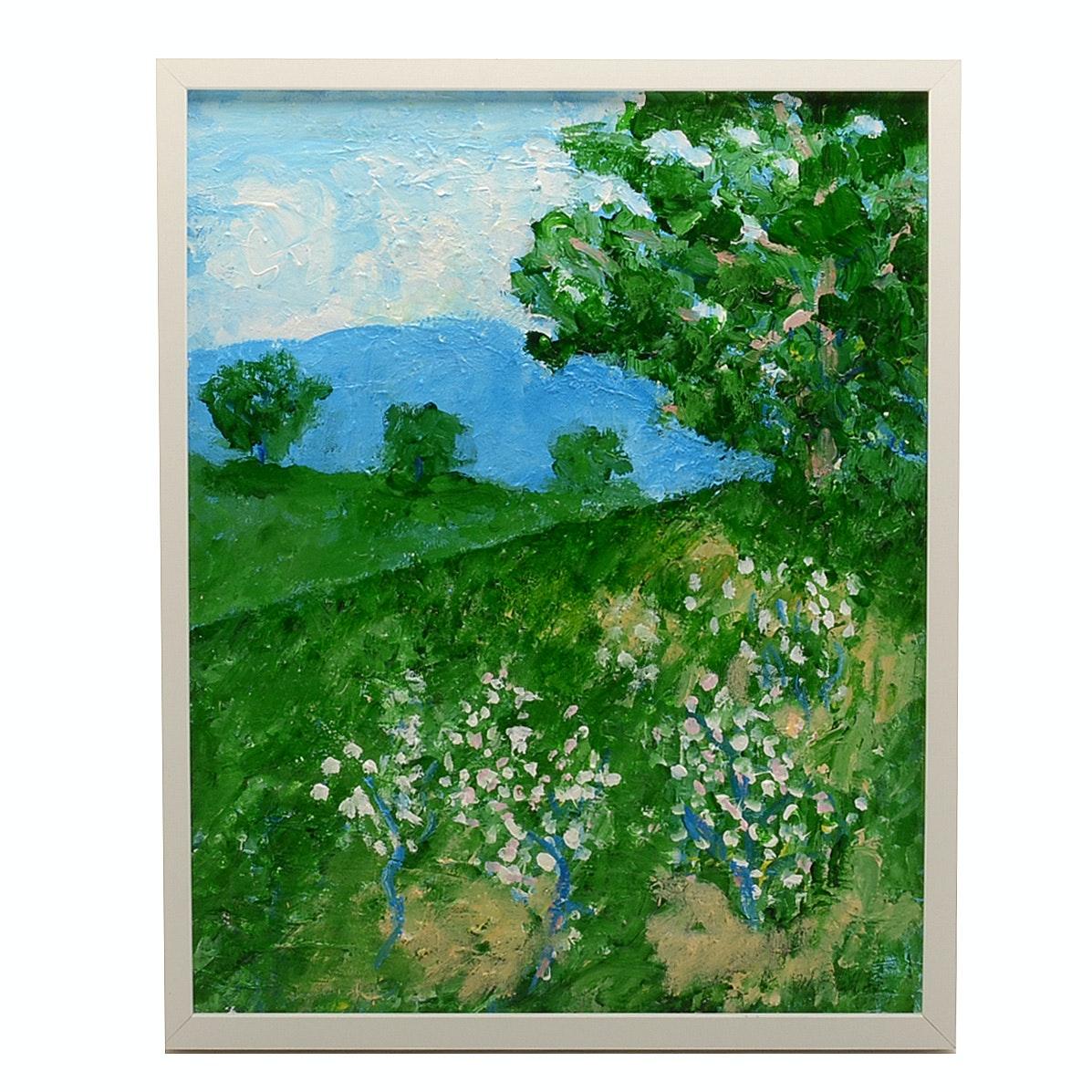 William Becker Original Acrylic Painting on Canvas