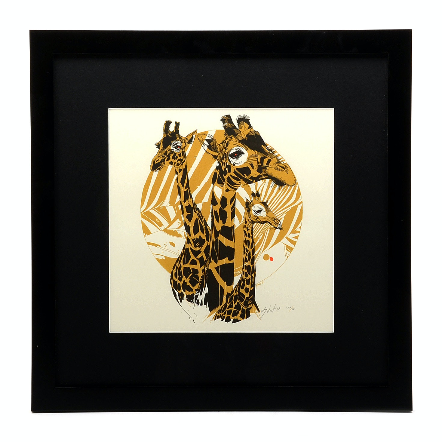 "Tyler Stout Limited Edition Serigraph ""Triaffe"""