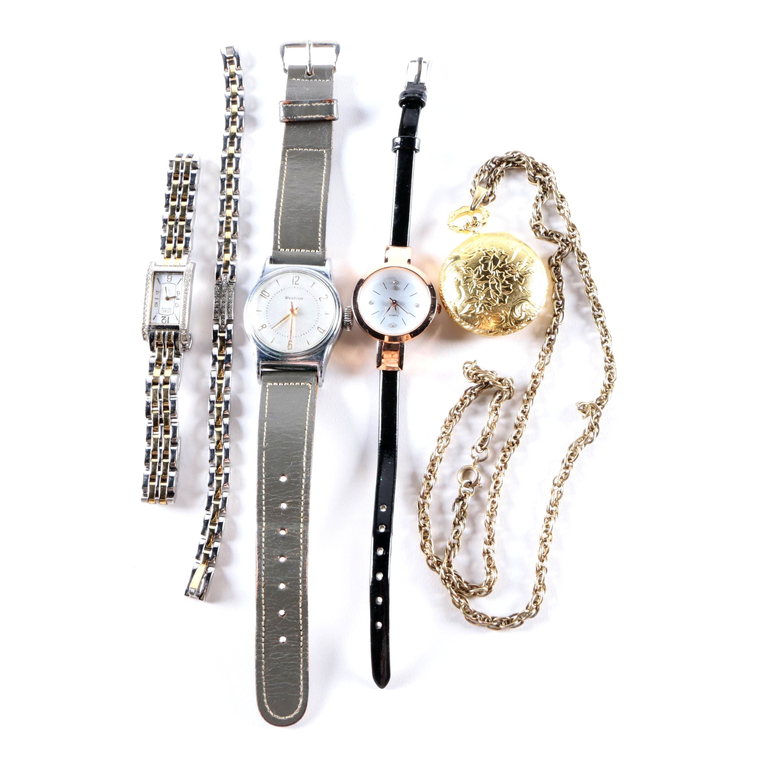 Citizen Two-Tone Wristwatch and Bracelet with Sutton Pocket Watch and Others