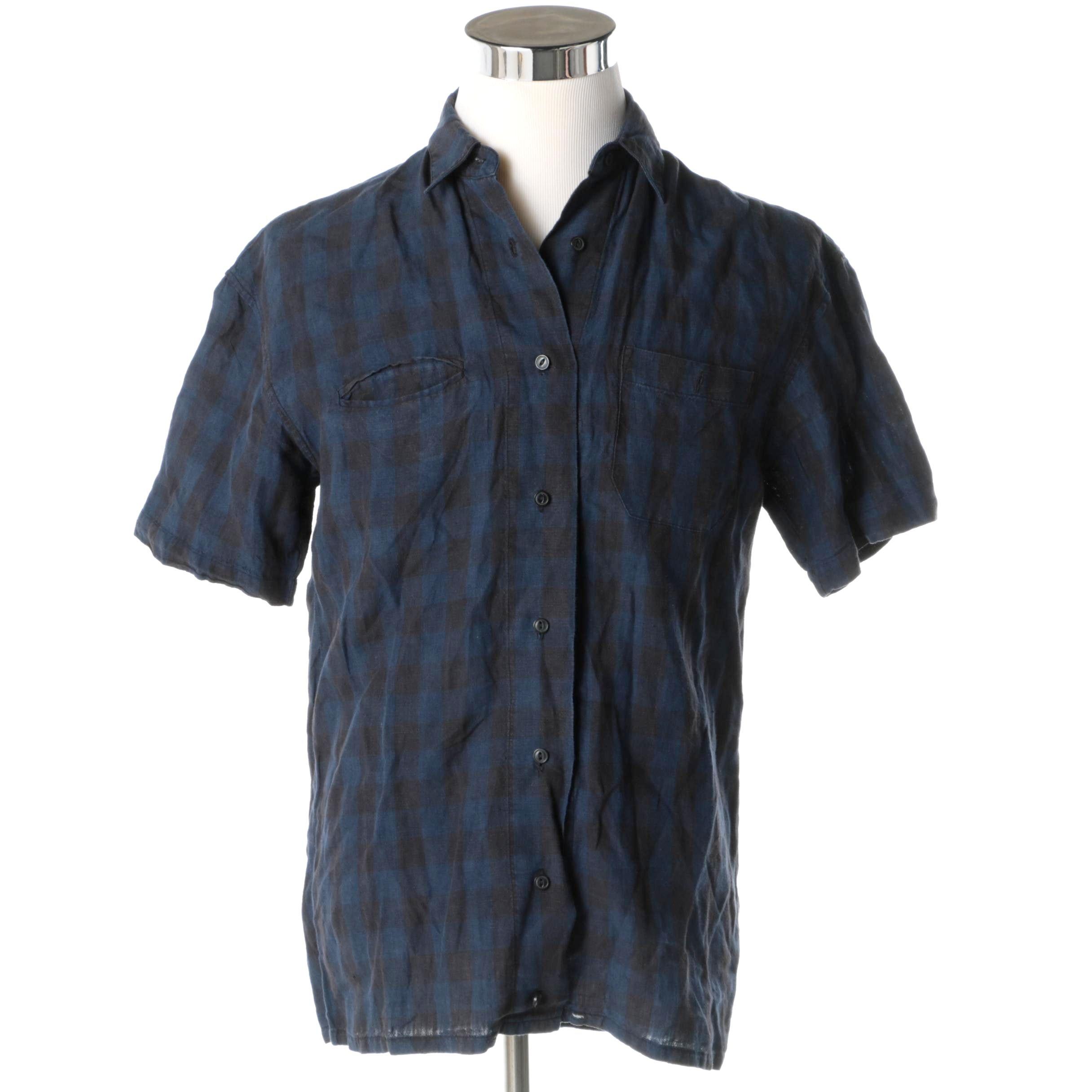 Men's Corpus Linen Button-Down Shirt