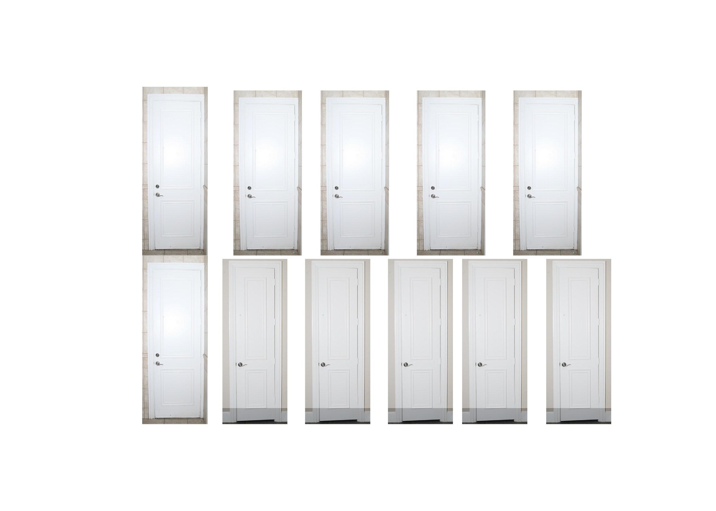 Set of Eleven Wooden Doors