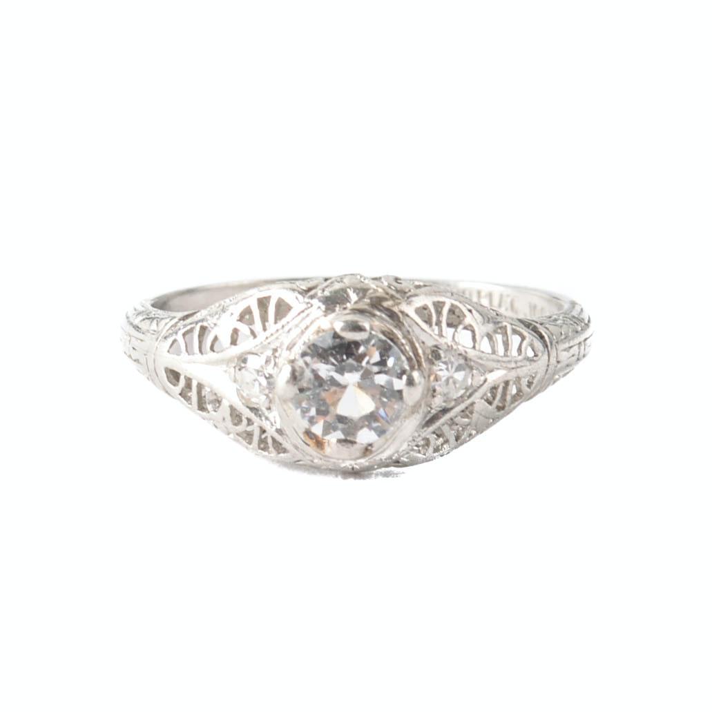 Platinum YAG and Diamond Ring