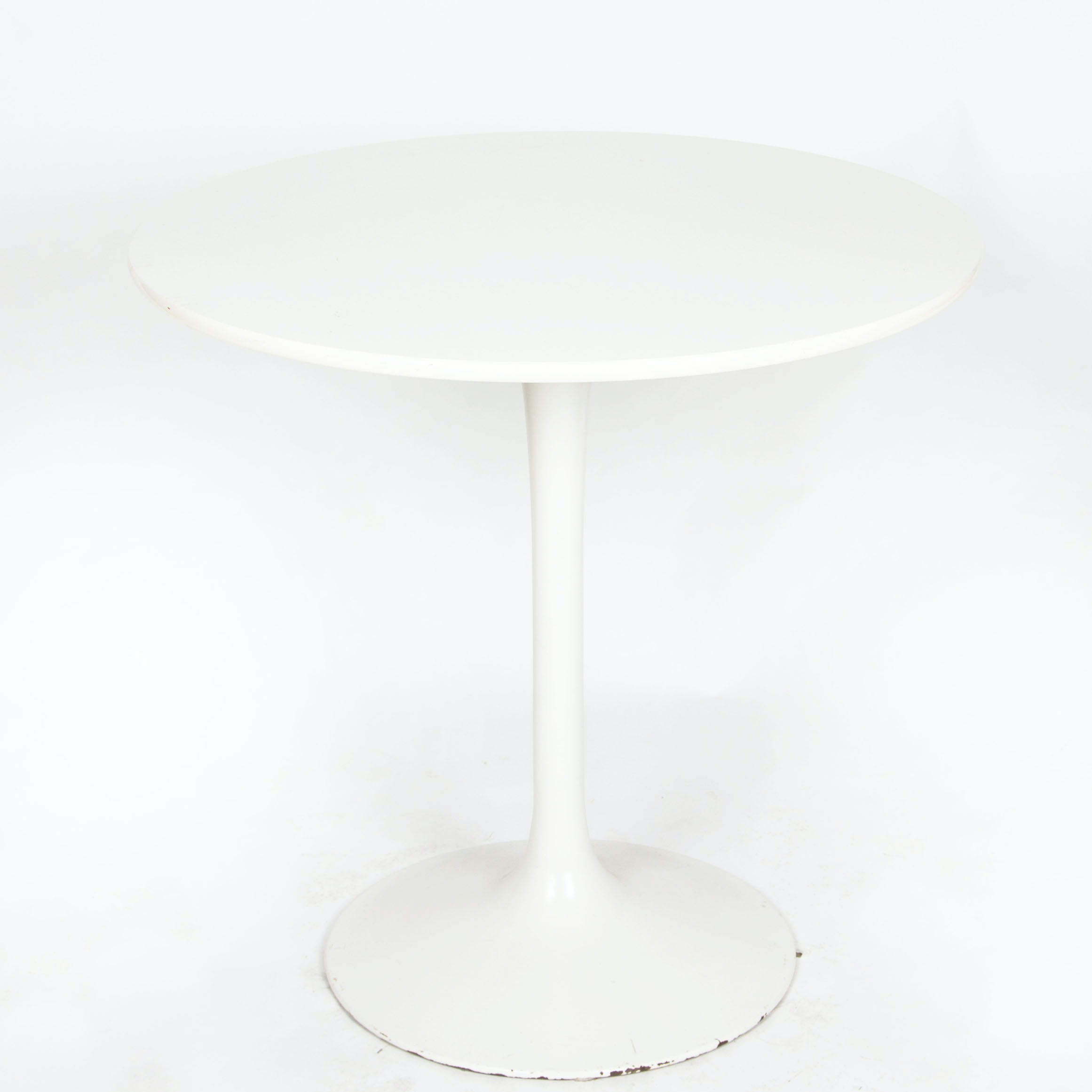 "Mid Century Modern White ""Tulip"" Style Table"