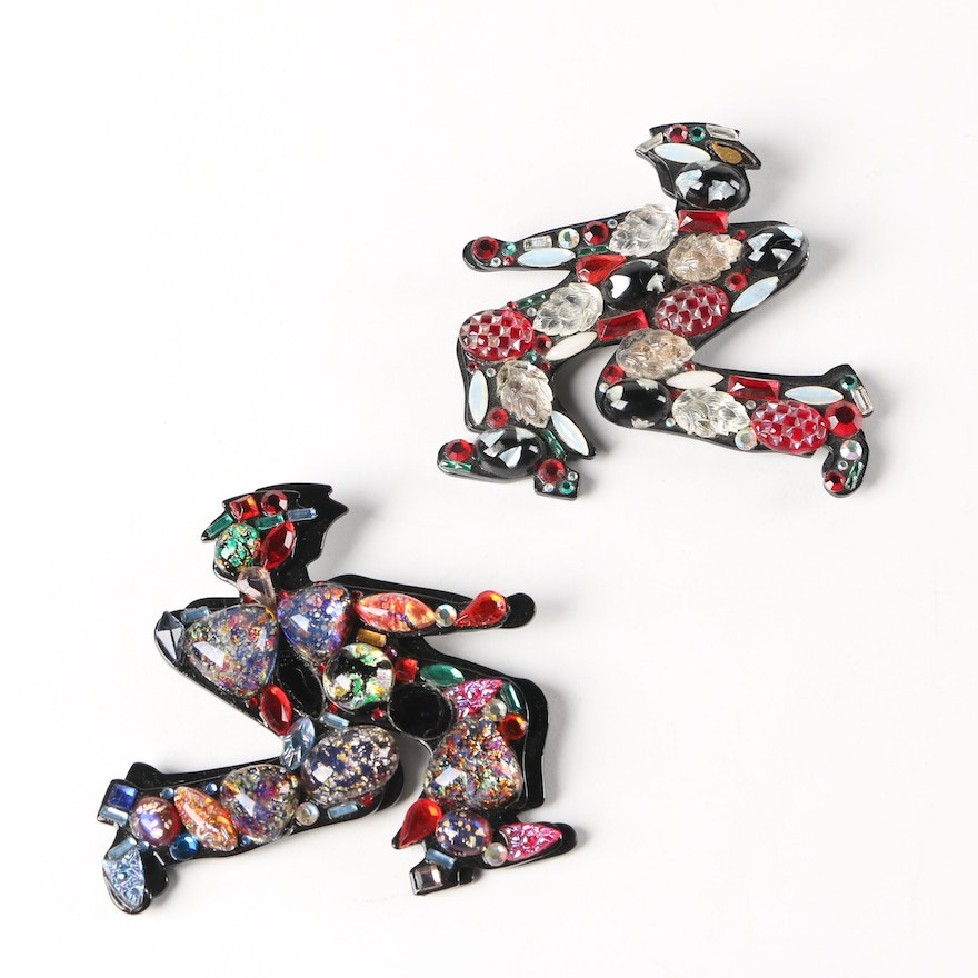 Vintage Abstract Shadow Men Pins by Bill Schiffer
