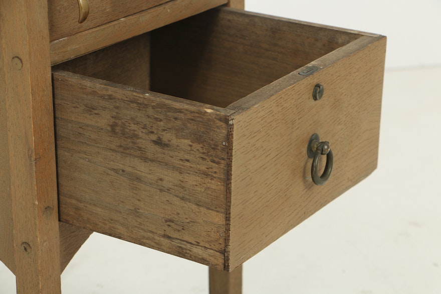 Early 20th Century Arts And Crafts Oak Smoking Stand By H