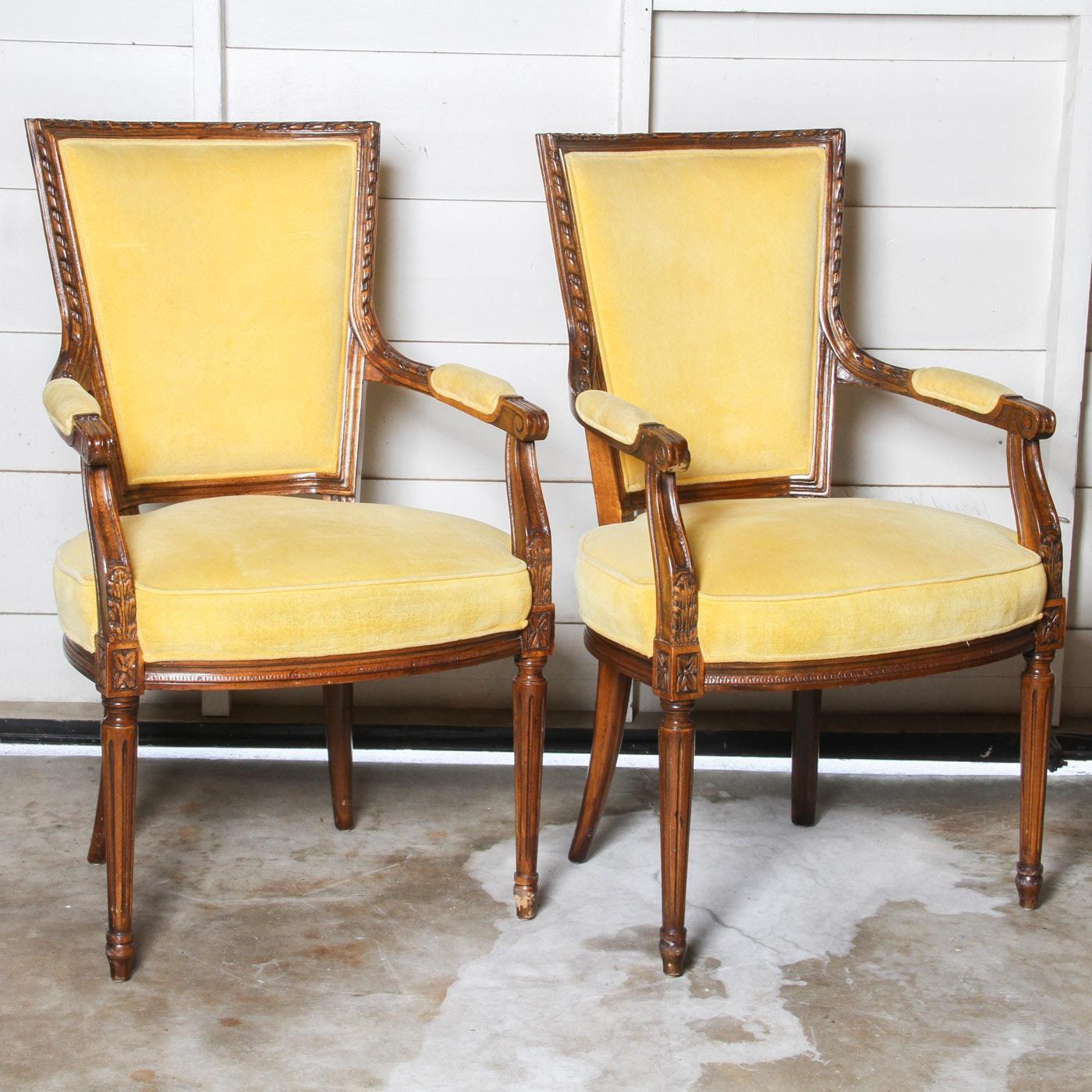 Pair of Sheraton Style Armchairs