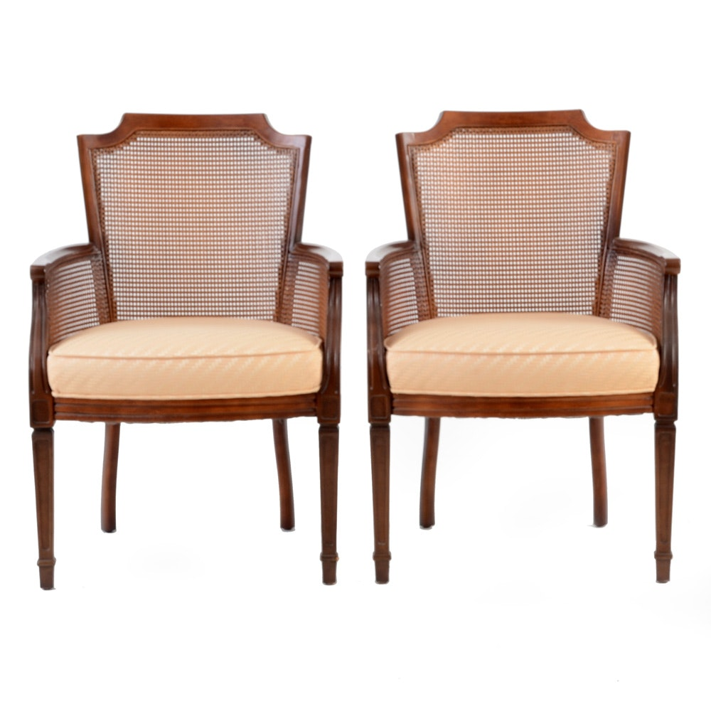 Pair of Caned-Back Armchairs