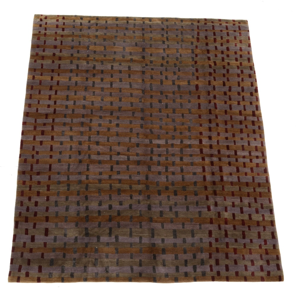 "Tufenkian Designers Reserve Wool and Silk ""Rag Weave"" Pattern Area Rug"