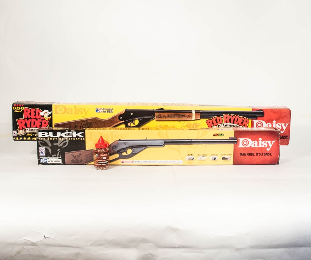 Daisy BB Rifles Including the Red Ryder and Buck 400 Models