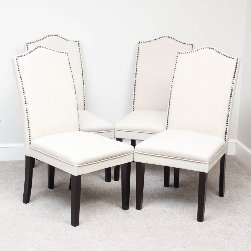 Nailhead Parsons Chairs By Bassett Mirror Company