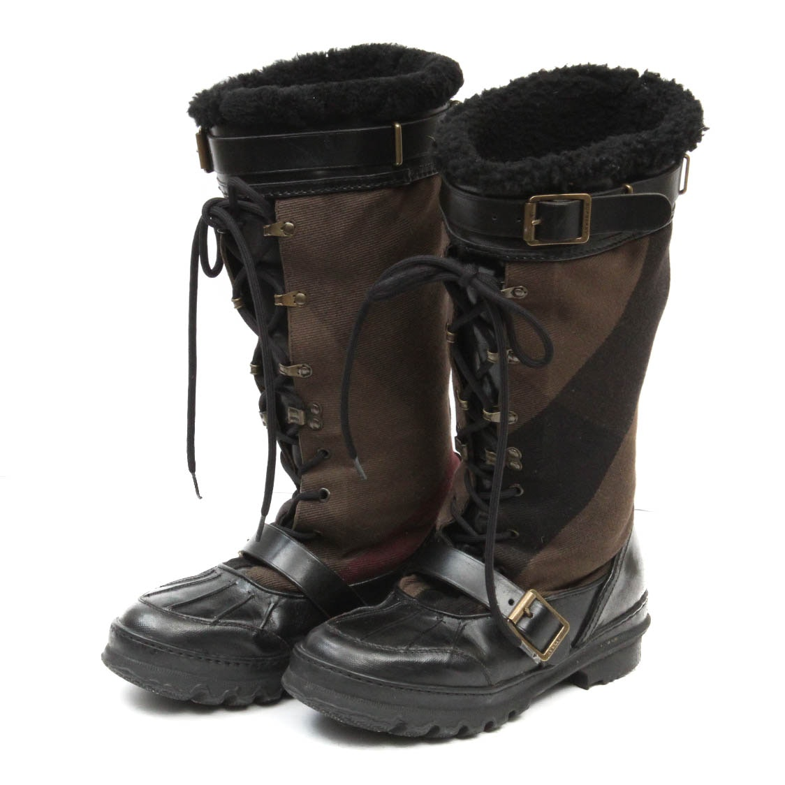 Burberry Lace Up Duck Boots