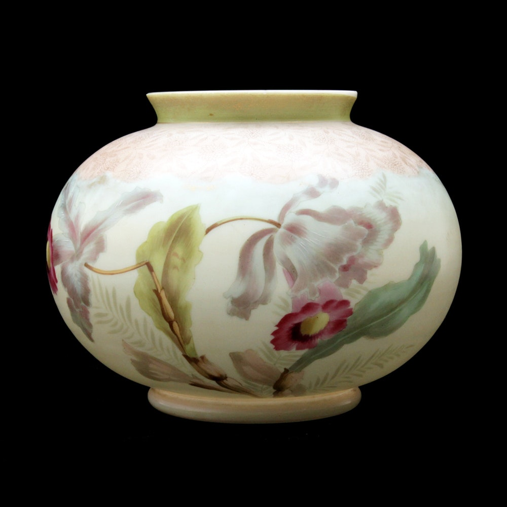 Antique Hand-Painted Viennese Austrian Porcelain Vase