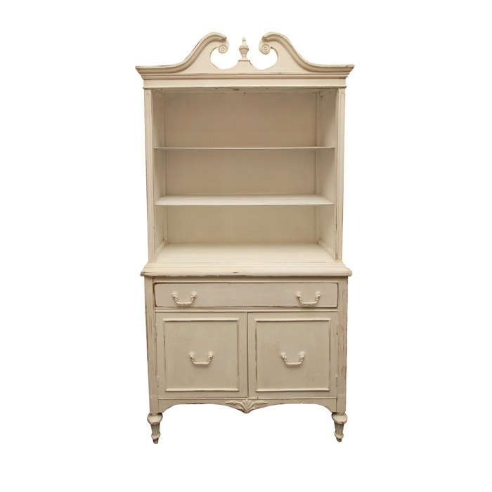 White Painted Open China Cabinet