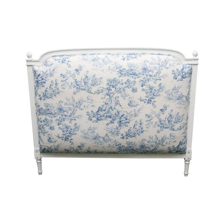 White Headboard with Upholstered Detail