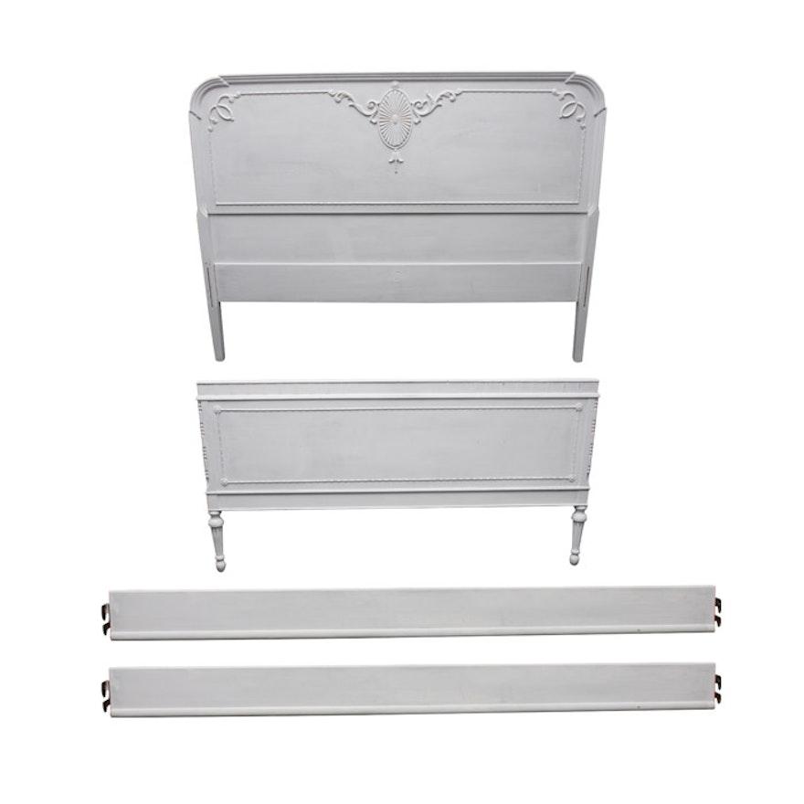 white painted full size bed frame - White Full Size Bed Frame