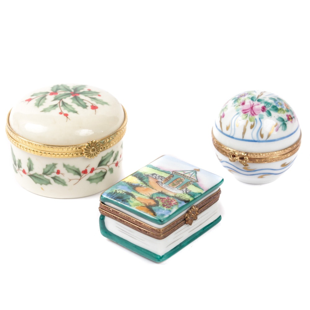 Limoges and Lenox Trinket Boxes